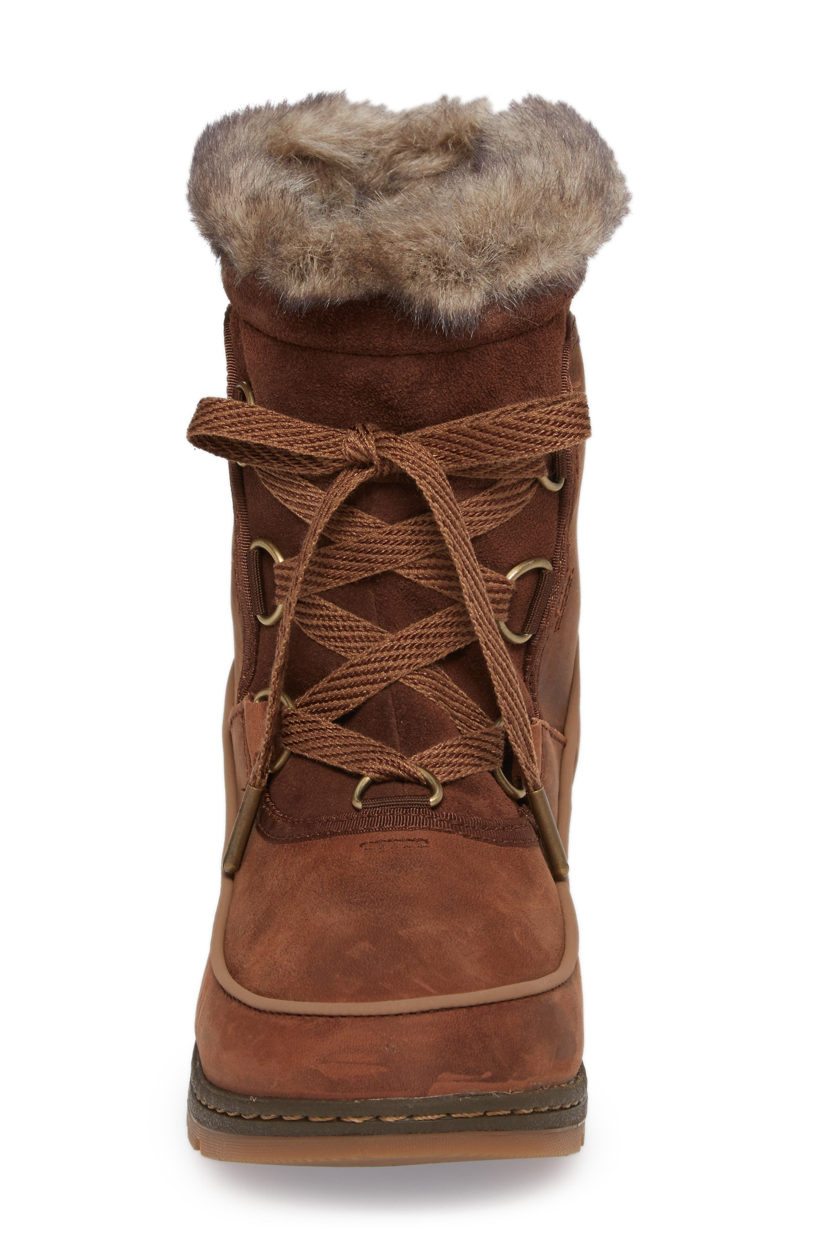 Tivoli II Insulated Winter Boot with Faux Fur Trim,                             Alternate thumbnail 8, color,