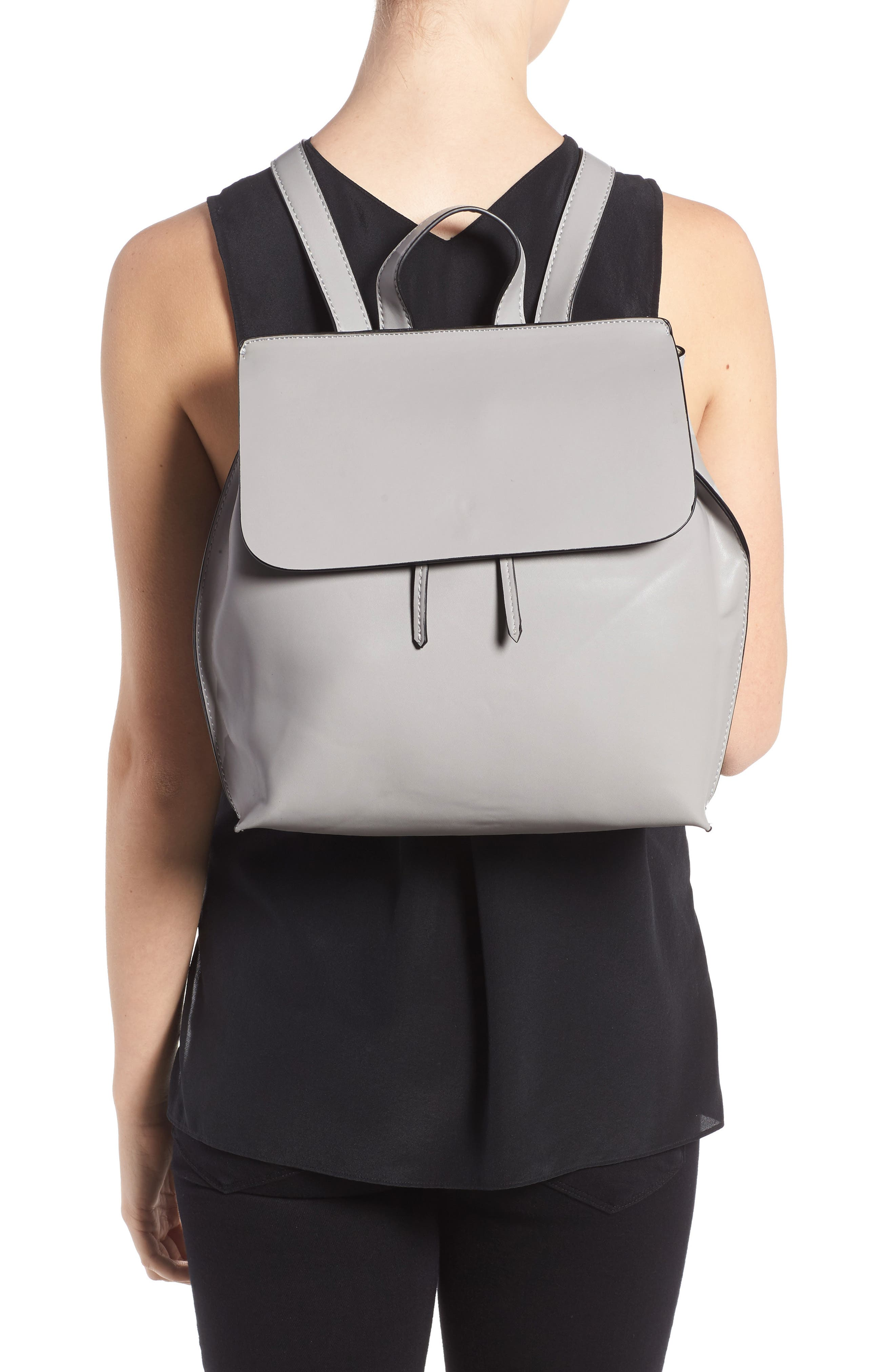 Selena Faux Leather Backpack,                             Alternate thumbnail 11, color,