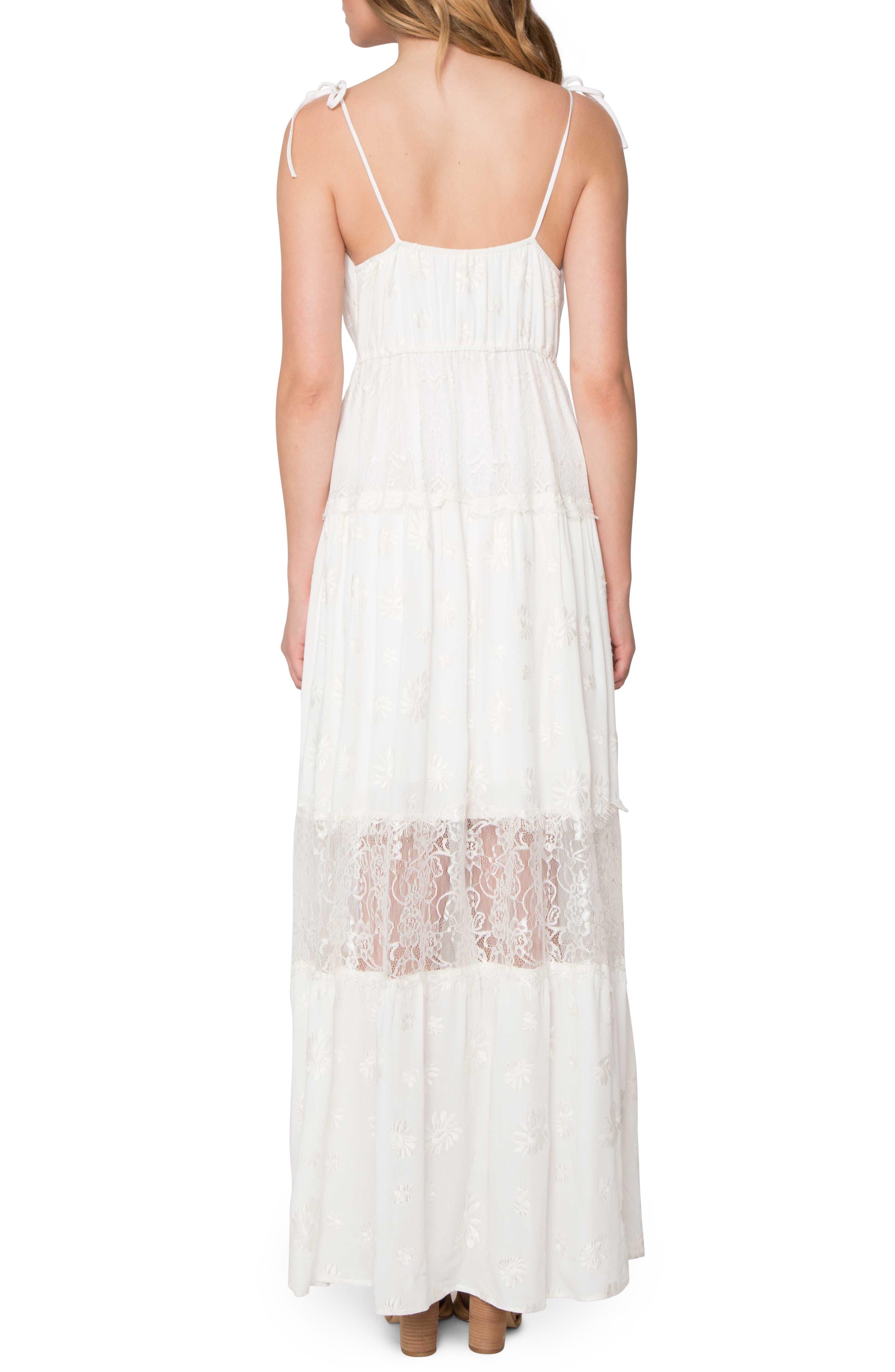 Lace Maxi Dress,                             Alternate thumbnail 2, color,                             903