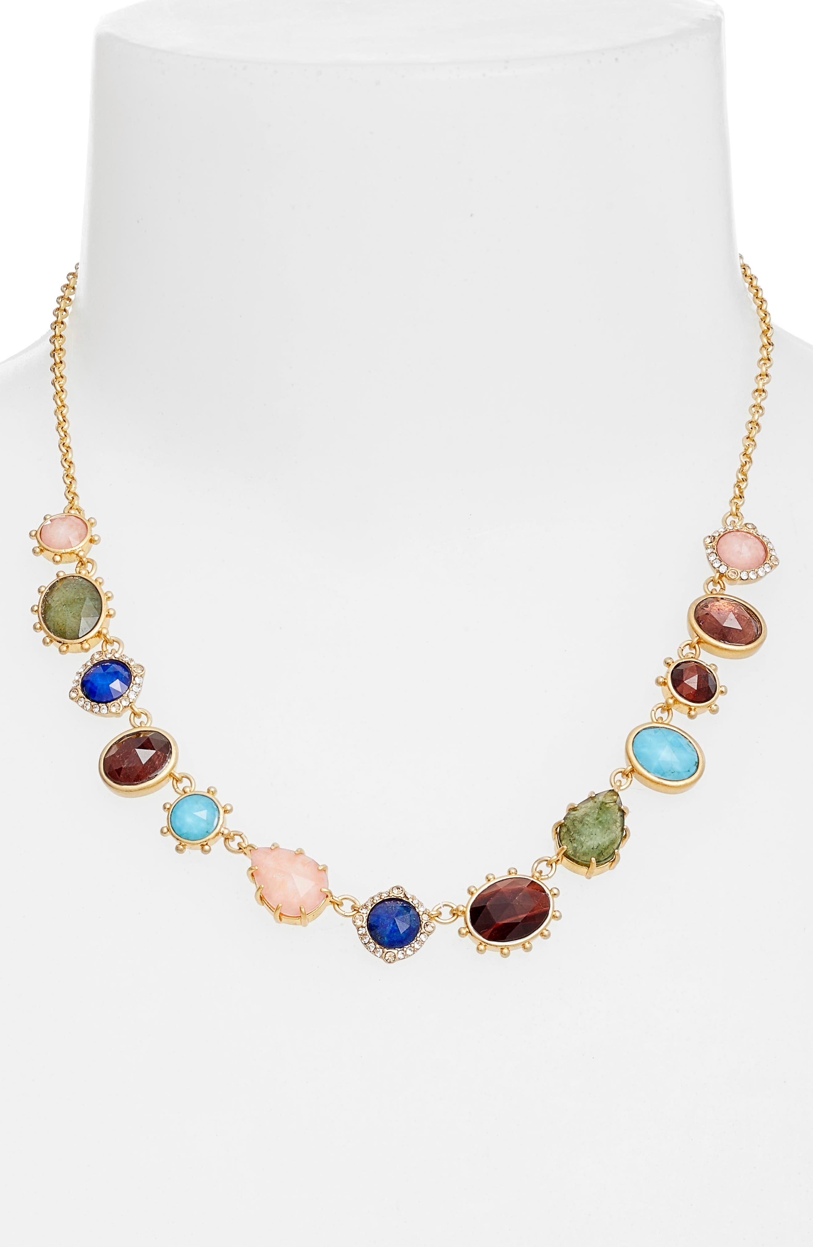 stone statement necklace,                             Alternate thumbnail 2, color,                             710