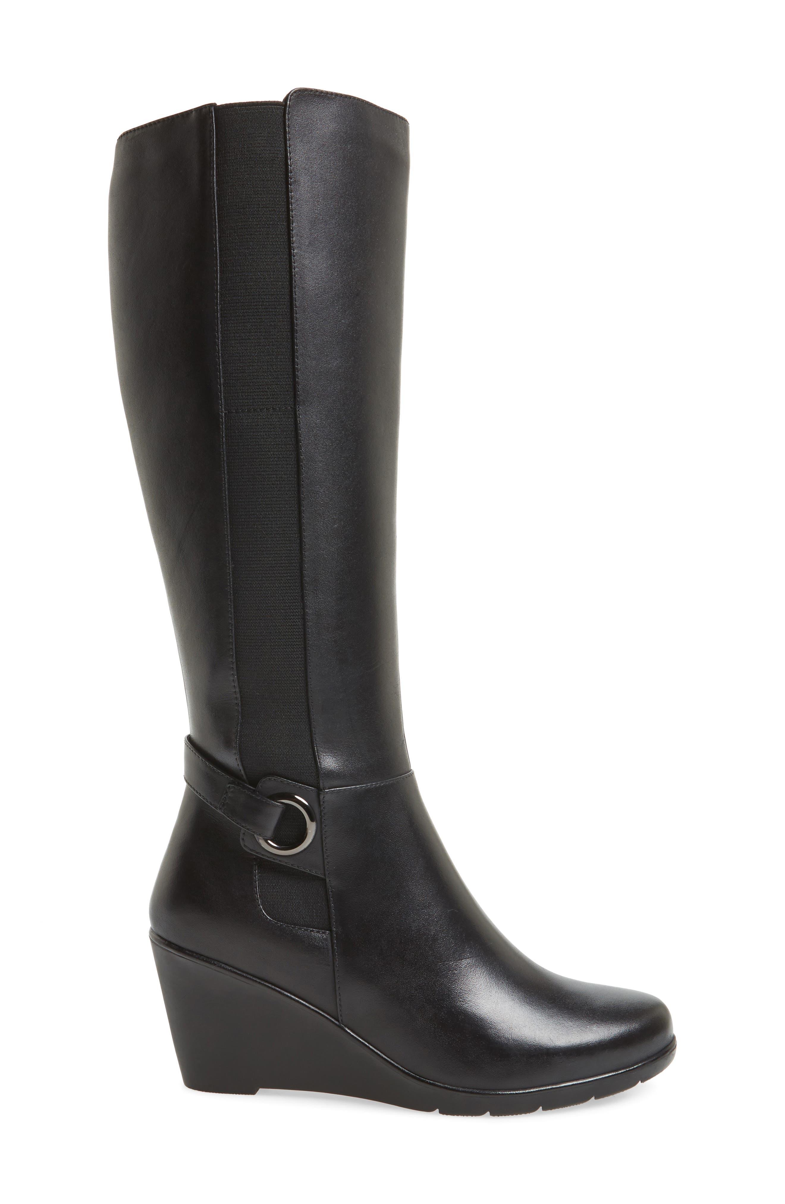 Lexie Waterproof Knee High Boot,                             Alternate thumbnail 3, color,                             001