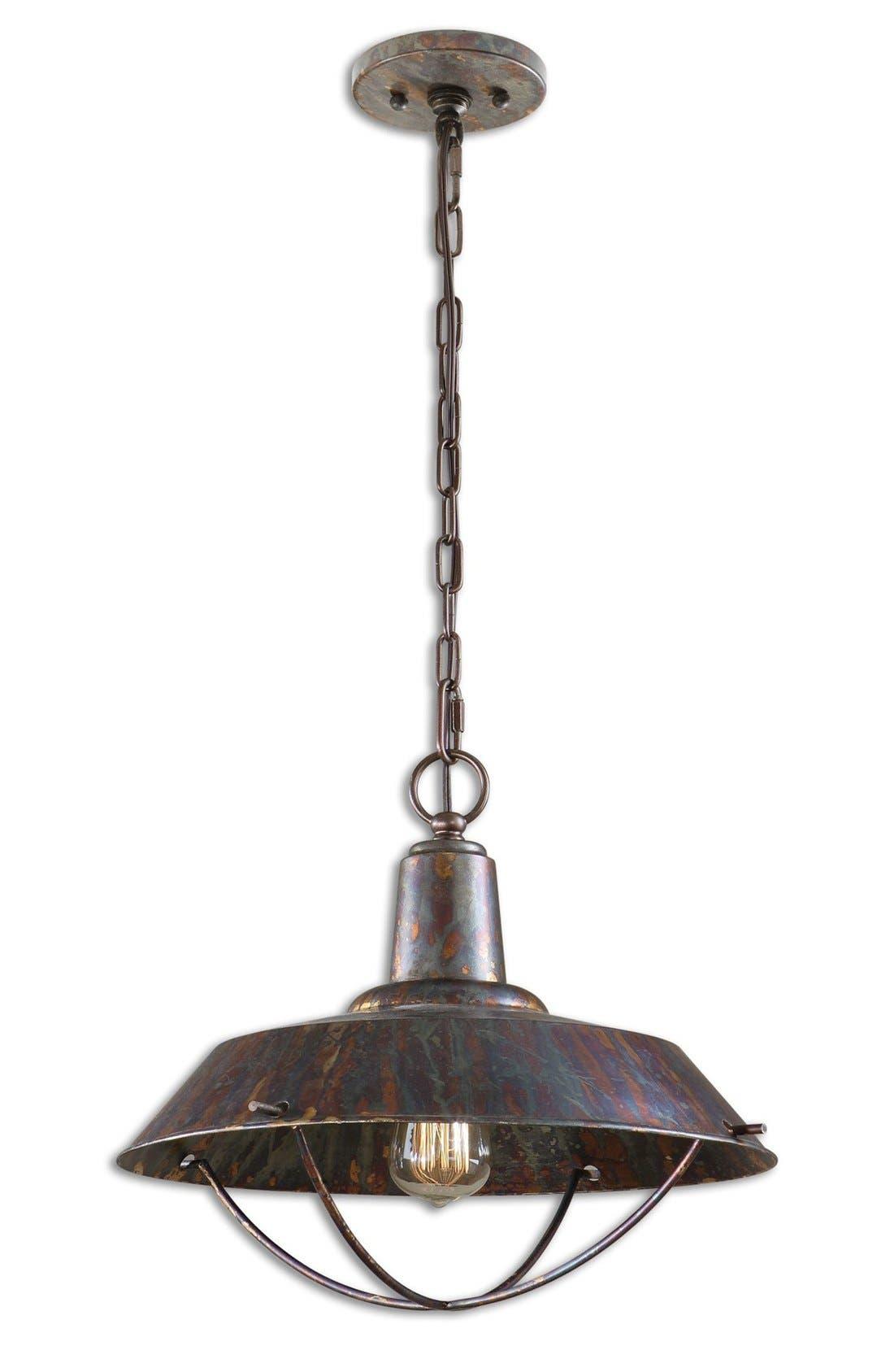 'Arcada' Bronzed Pendant Light,                         Main,                         color, 220
