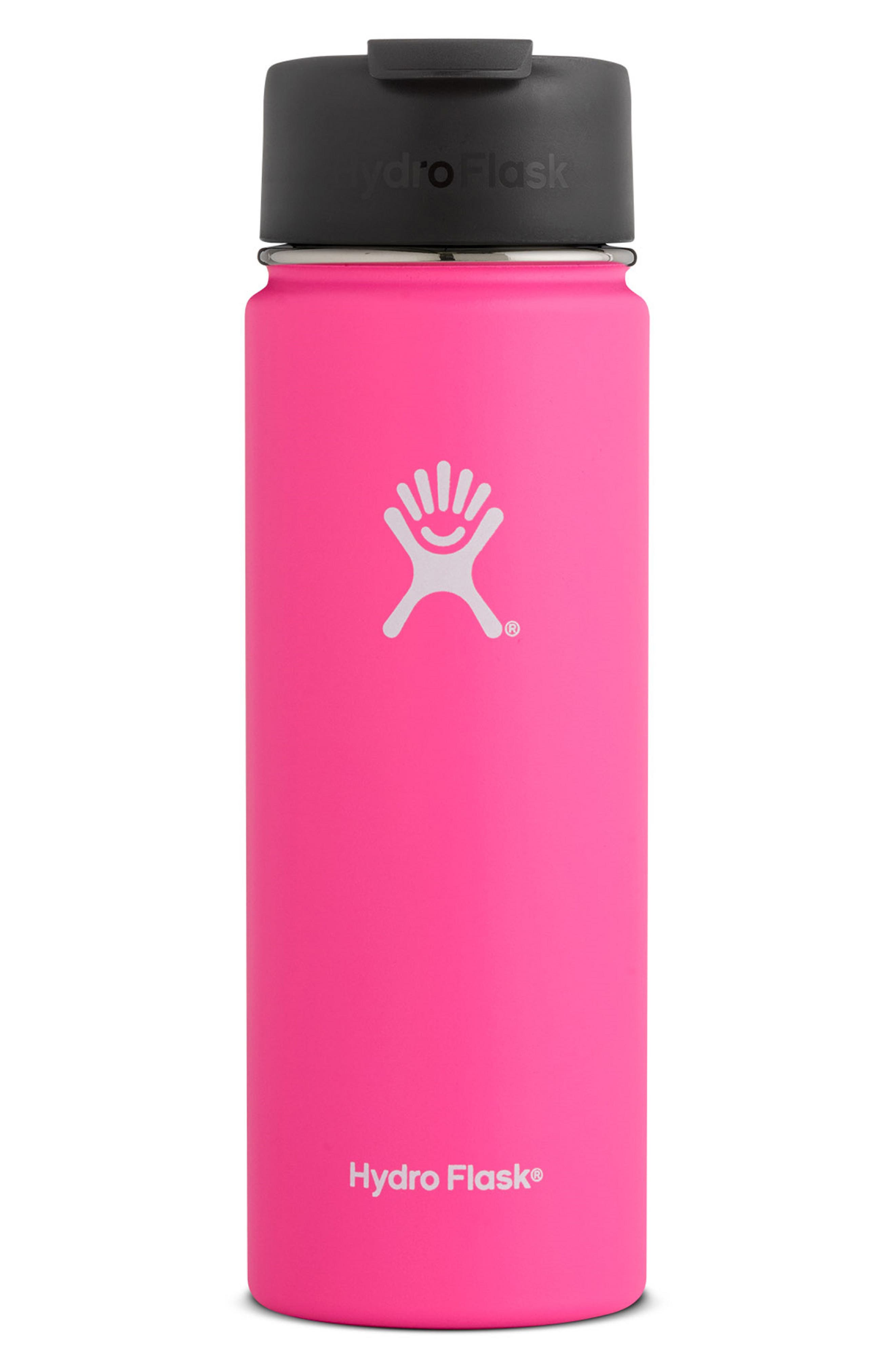HYDRO FLASK 20-Ounce Wide Mouth Tumbler, Main, color, FLAMINGO