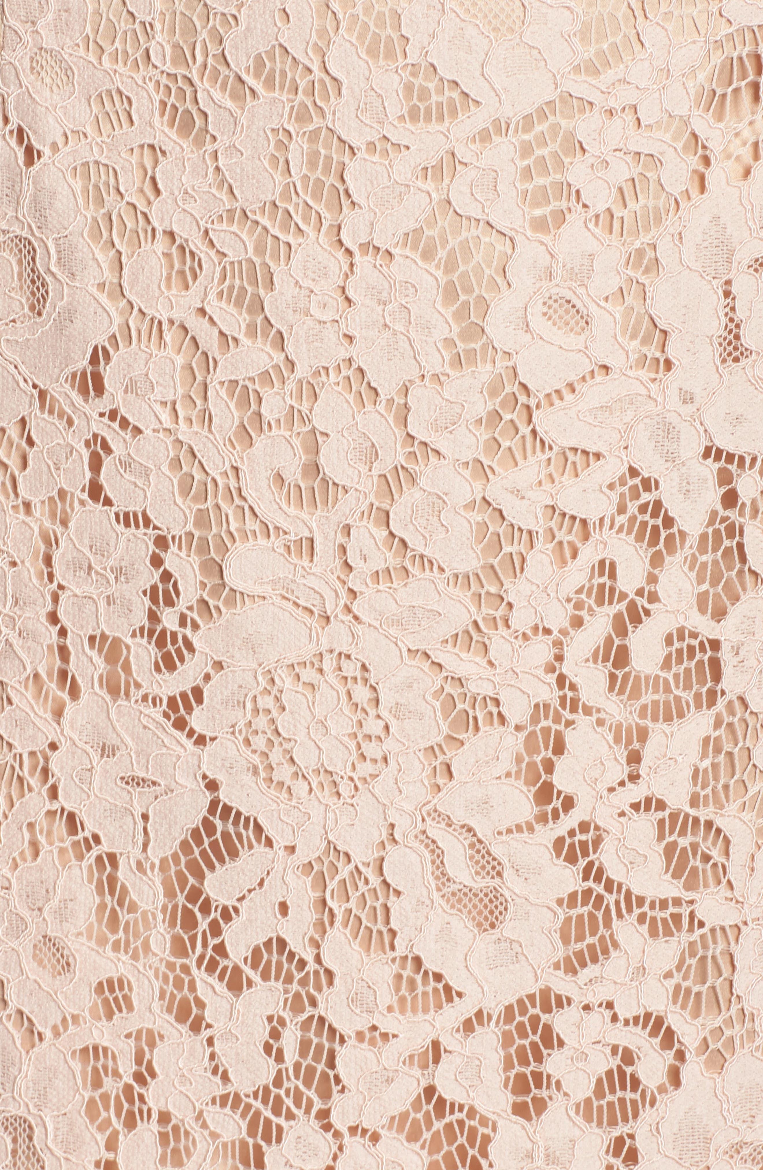 Ruffle Trim Lace Two-Piece Dress,                             Alternate thumbnail 5, color,                             651