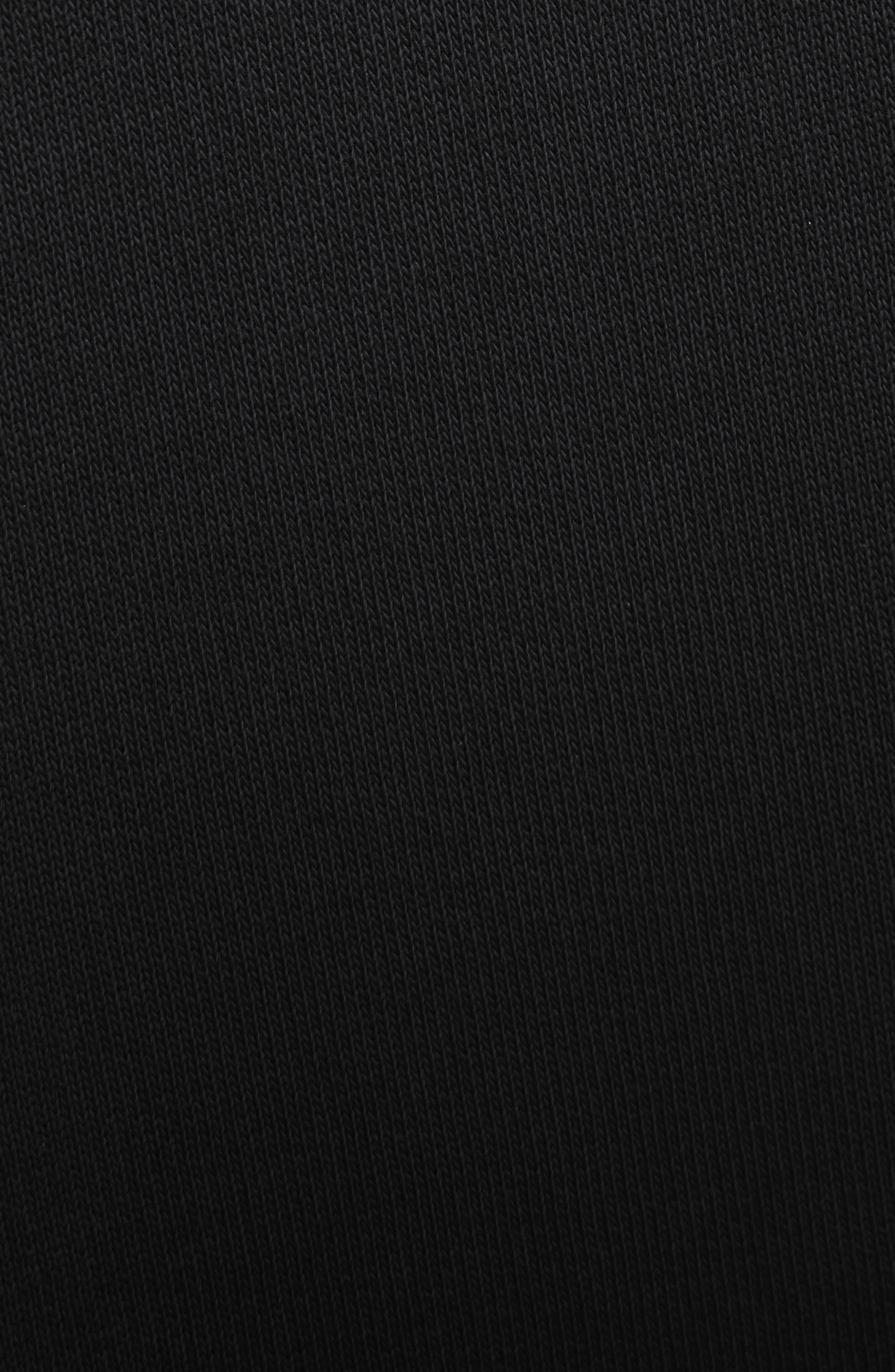 Oversize Logo Sweatshirt,                             Alternate thumbnail 6, color,                             BLACK