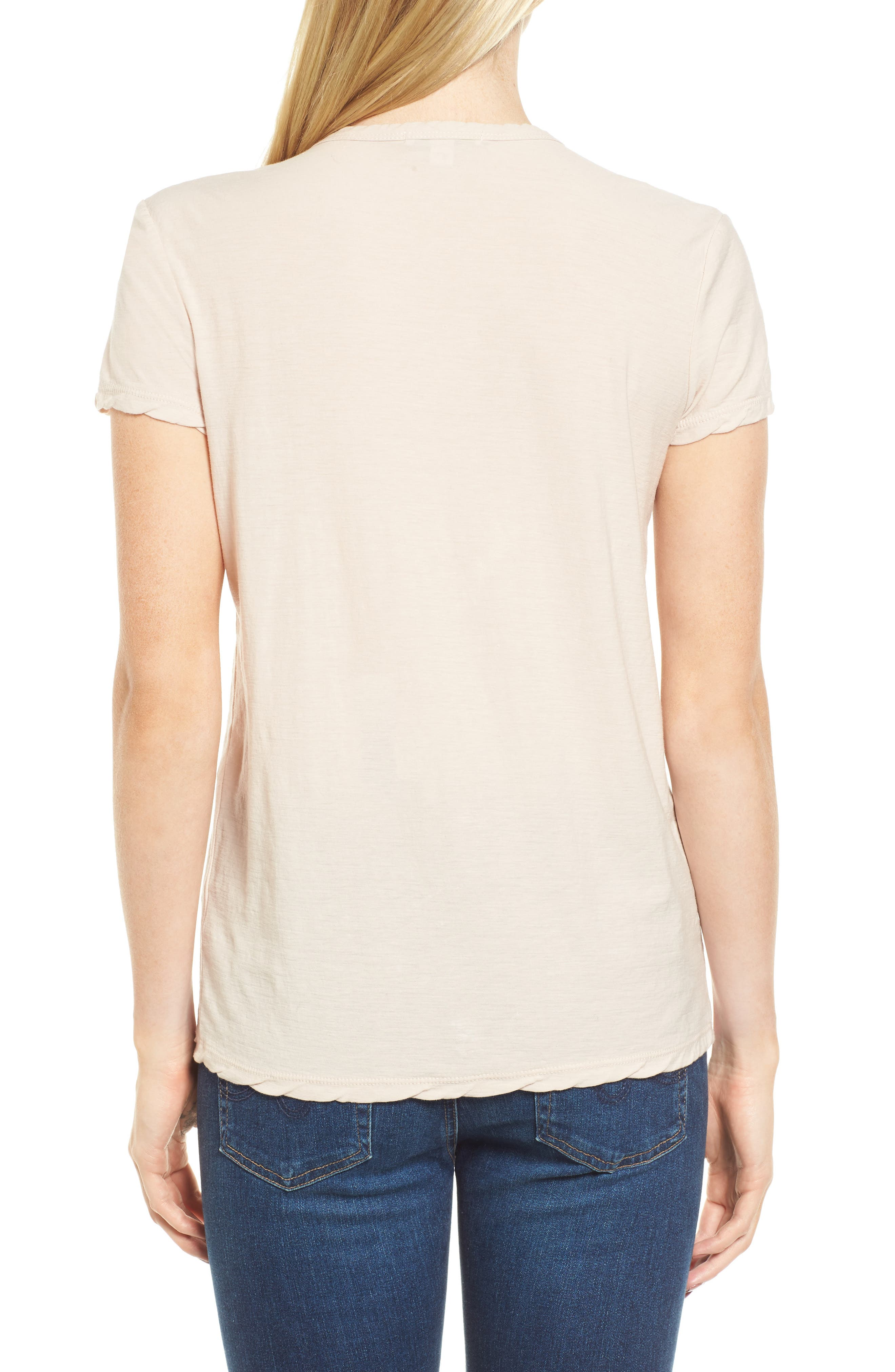 Deep V-Neck Tee,                             Alternate thumbnail 4, color,