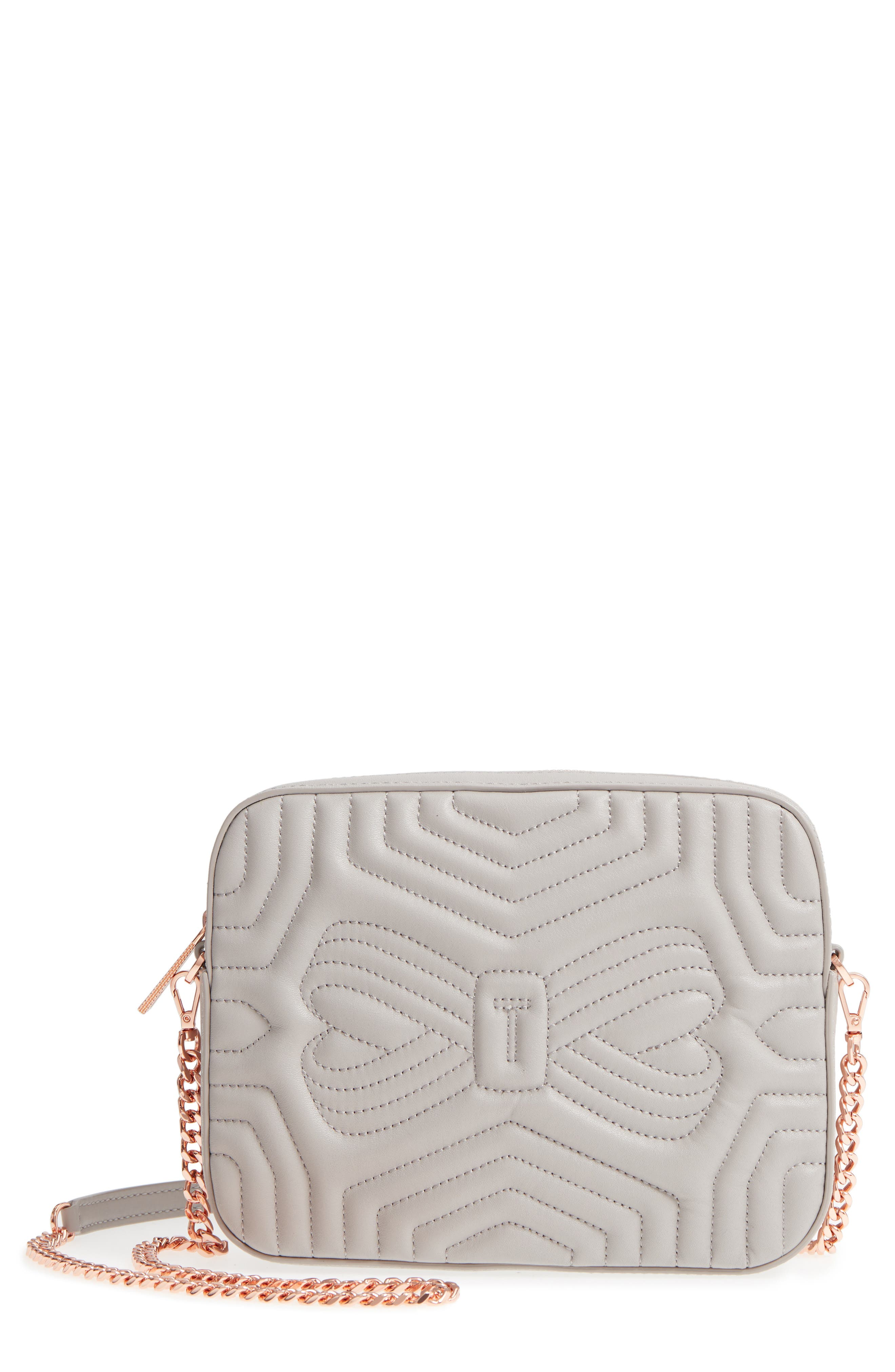 Quilted Leather Camera Bag,                         Main,                         color, 010