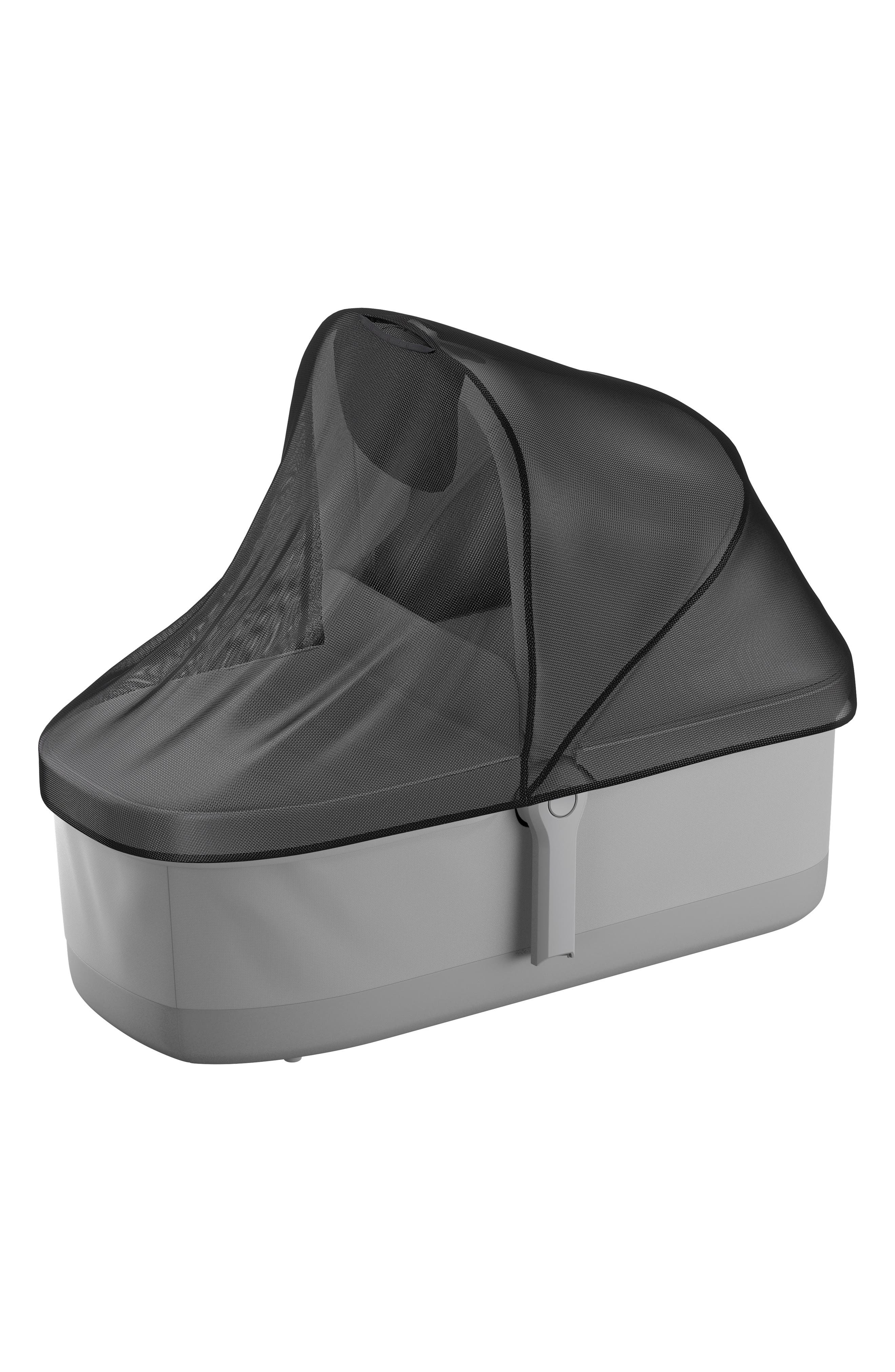 Mesh Cover for Thule Sleek Bassinet,                             Main thumbnail 1, color,                             BLACK