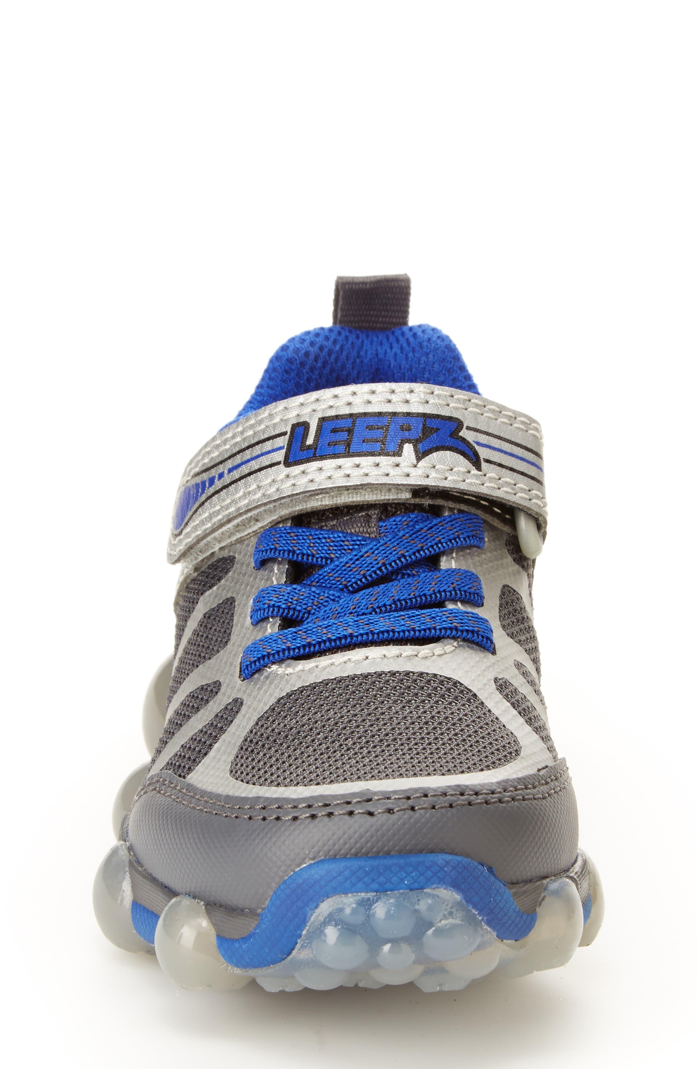 Leepz 3.0 Light-Up Sneaker,                             Alternate thumbnail 3, color,                             DARK GREY/ BLUE