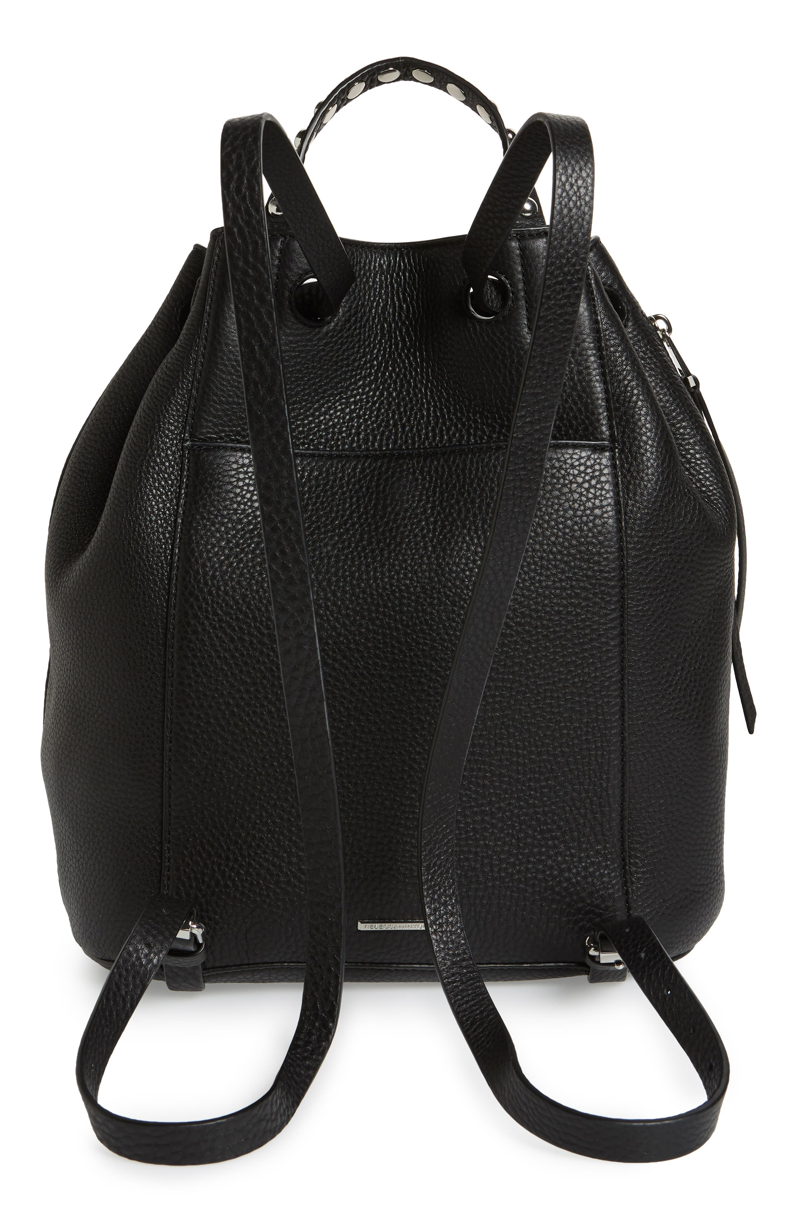 Blythe Leather Backpack,                             Alternate thumbnail 3, color,                             001