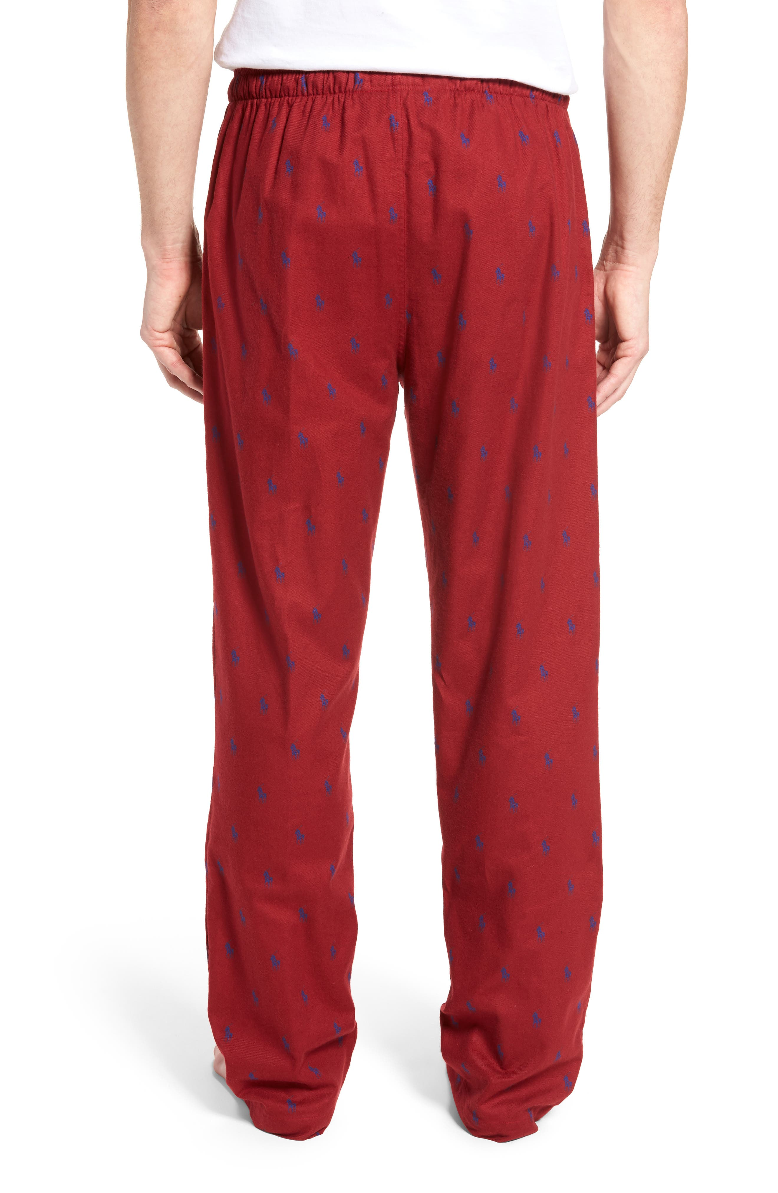 Brushed Flannel Pajama Pants,                             Alternate thumbnail 6, color,