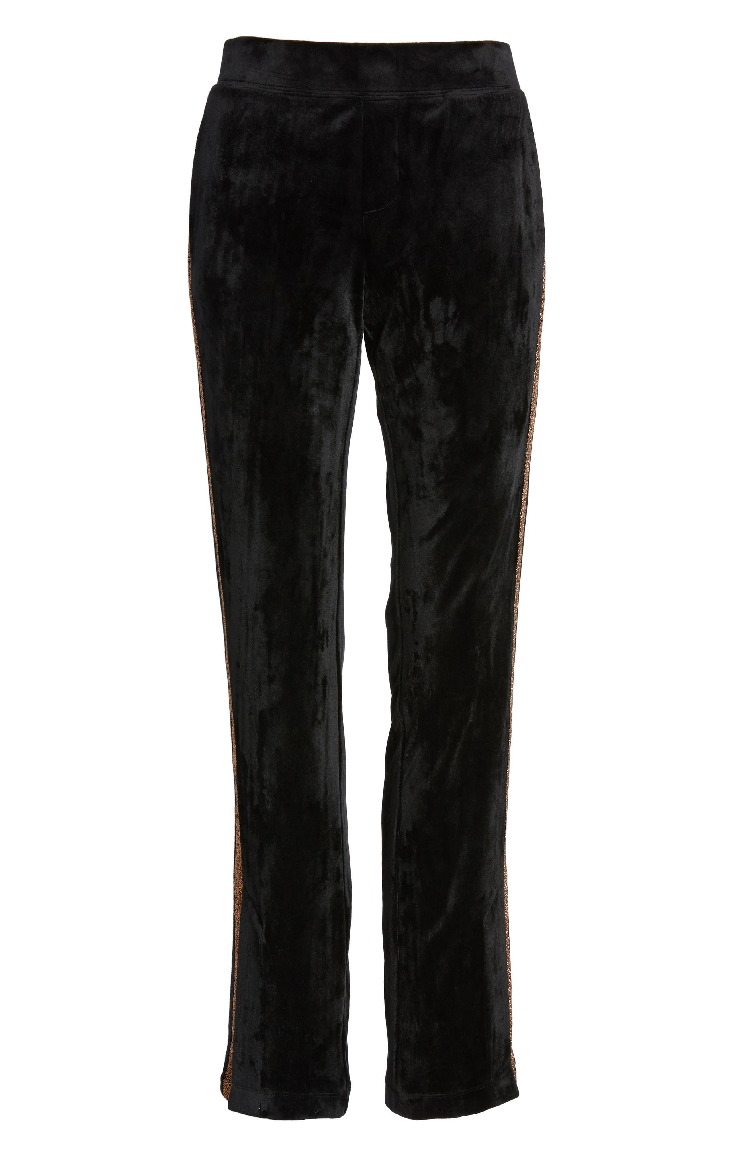 Shimmer Stripe Track Pants,                             Alternate thumbnail 7, color,                             001
