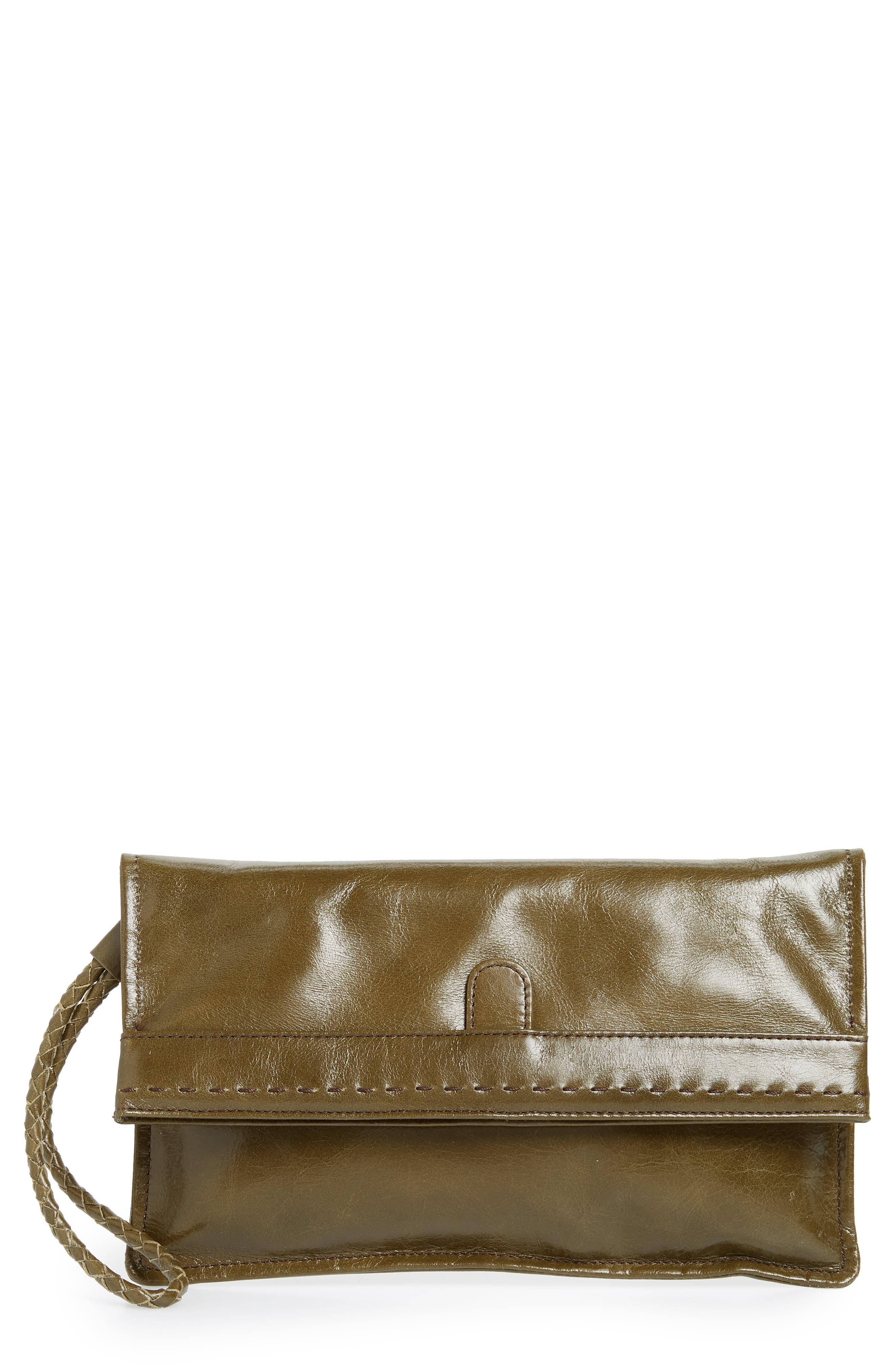 Arbor Leather Wristlet Clutch,                             Main thumbnail 4, color,