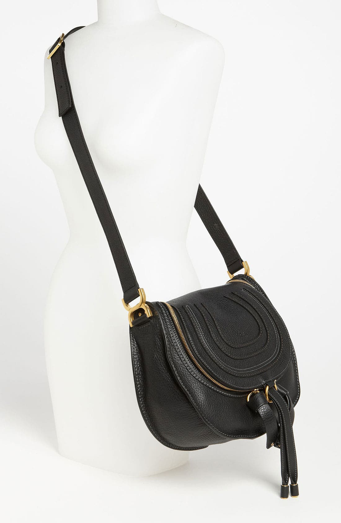 'Marcie' Leather Crossbody Bag,                             Alternate thumbnail 2, color,                             001