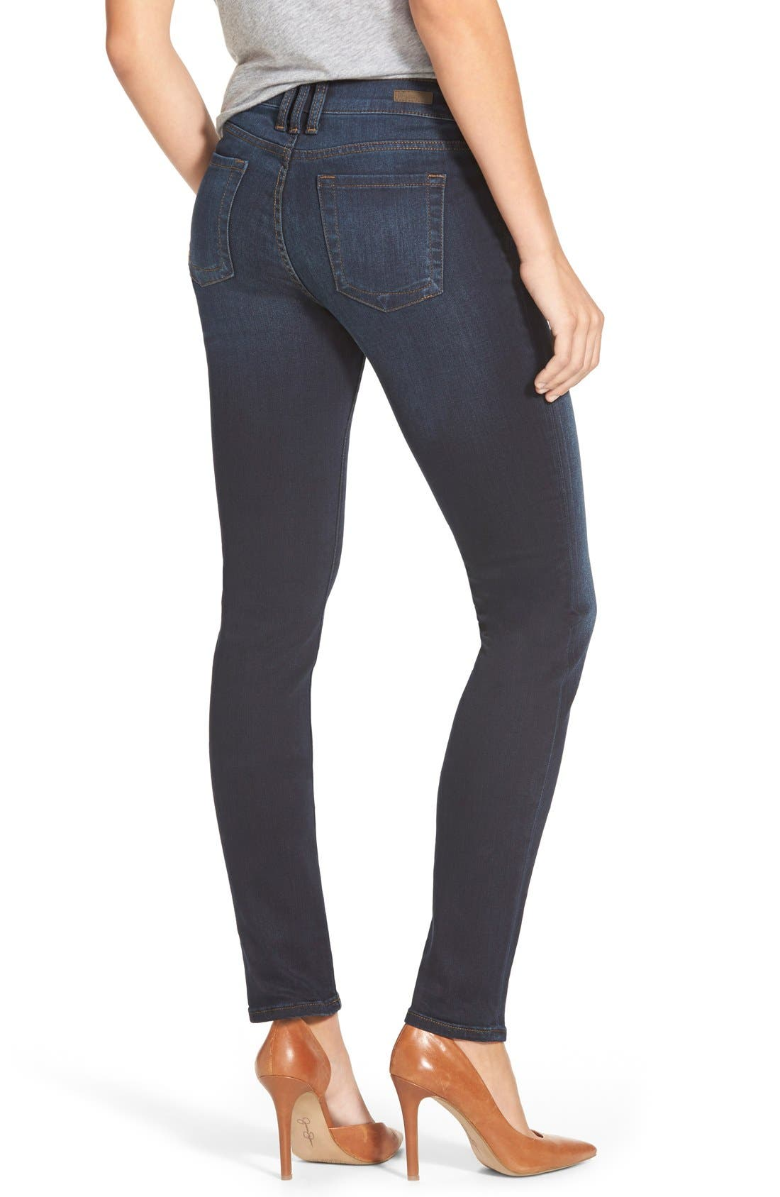 'Diana' Stretch Skinny Jeans,                             Alternate thumbnail 6, color,                             400