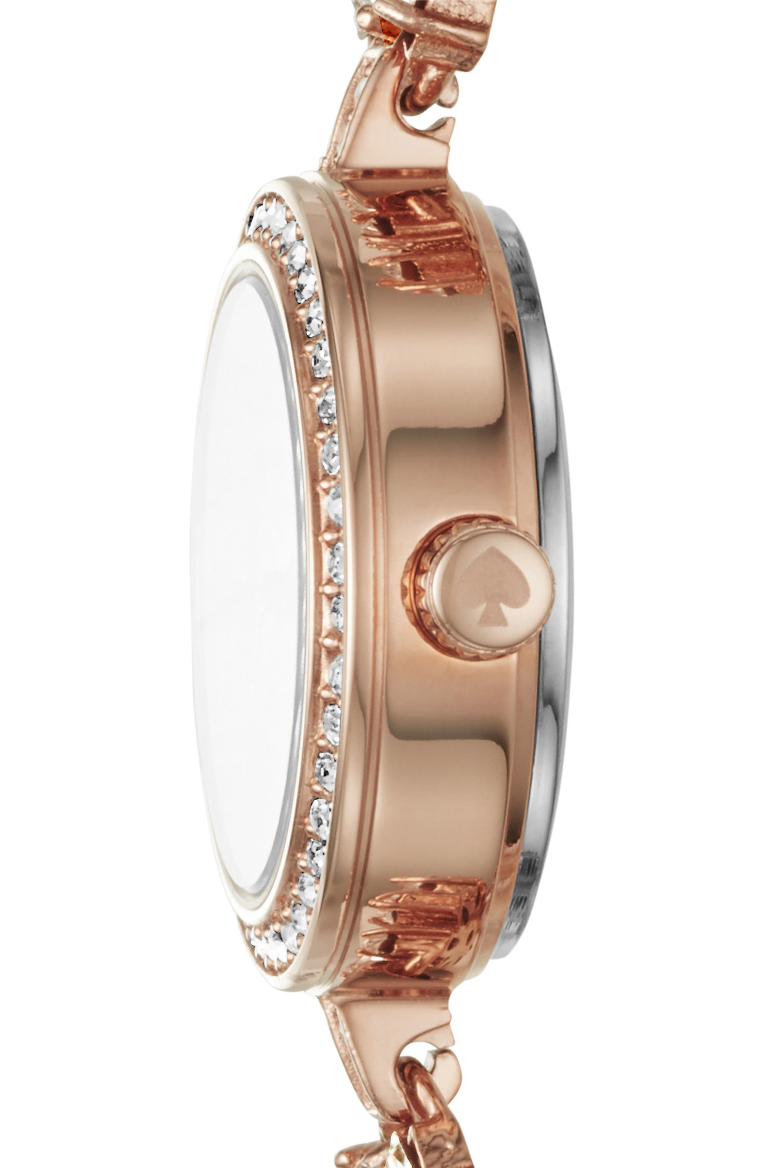 daisy chain crystal watch, 20mm,                             Alternate thumbnail 2, color,                             ROSE GOLD/ MOP/ ROSE GOLD