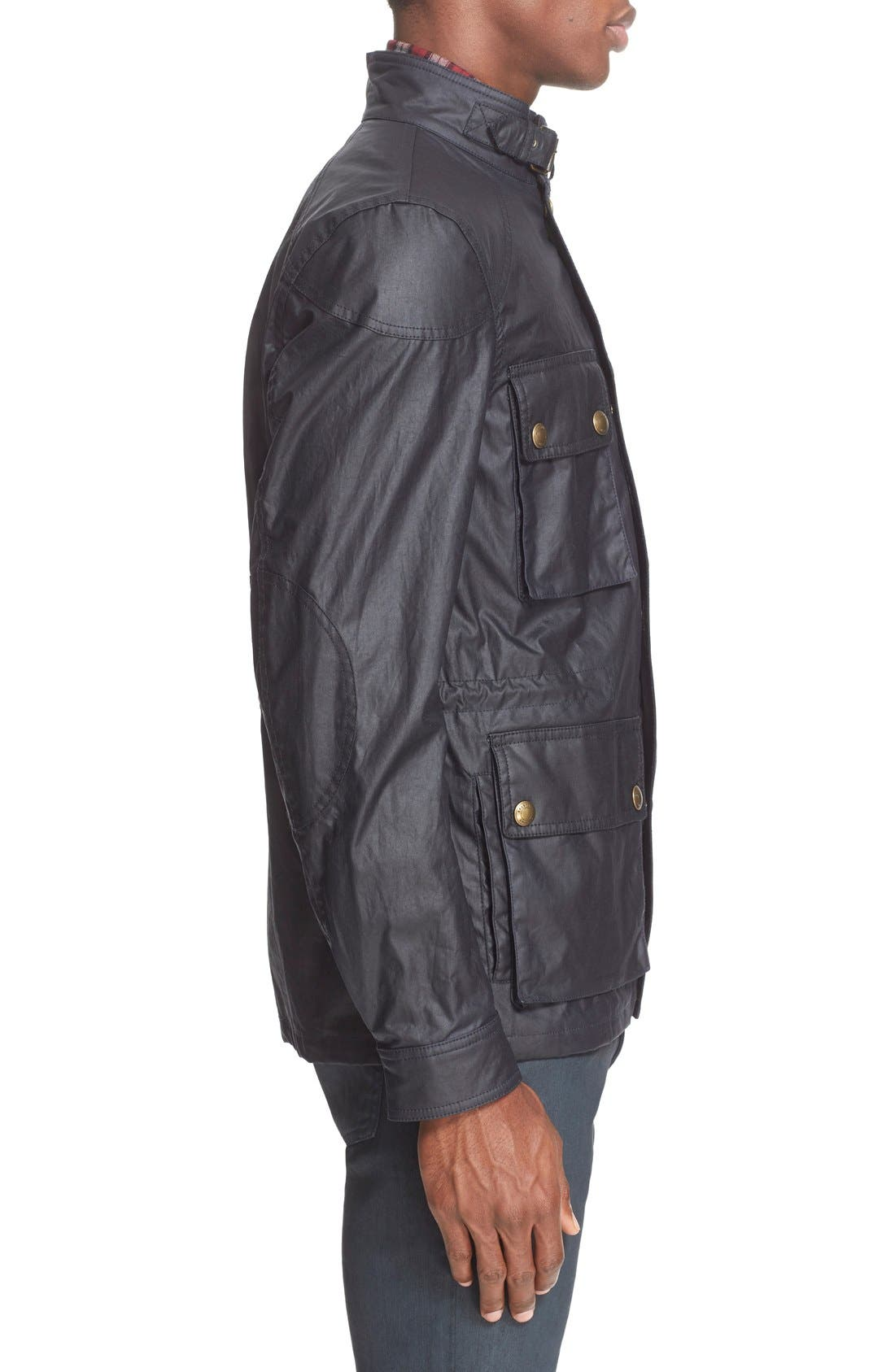'Trialmaster 2015' Waxed Cotton Jacket,                             Alternate thumbnail 8, color,