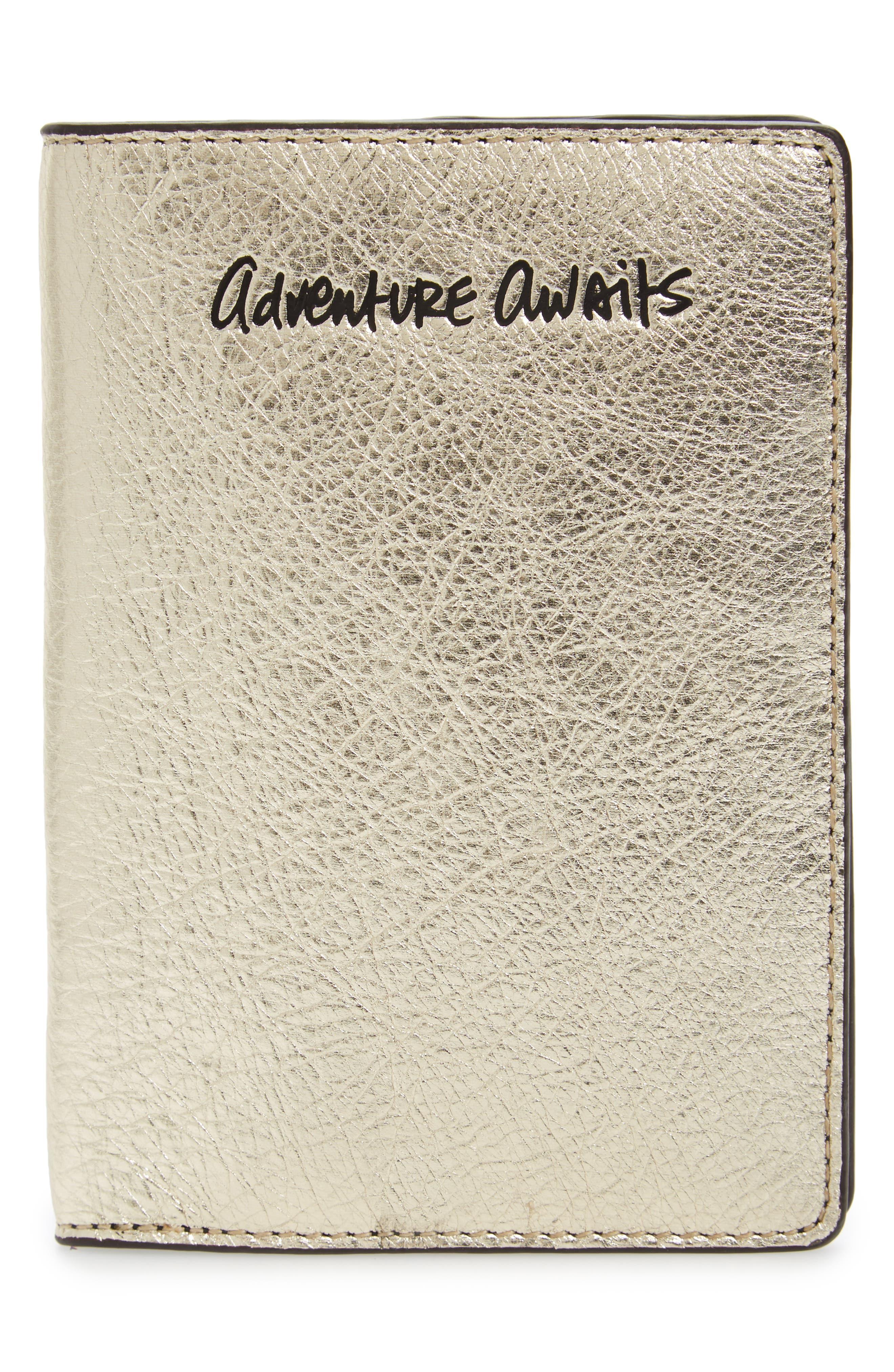 Adventure Awaits Passport Case,                             Main thumbnail 3, color,