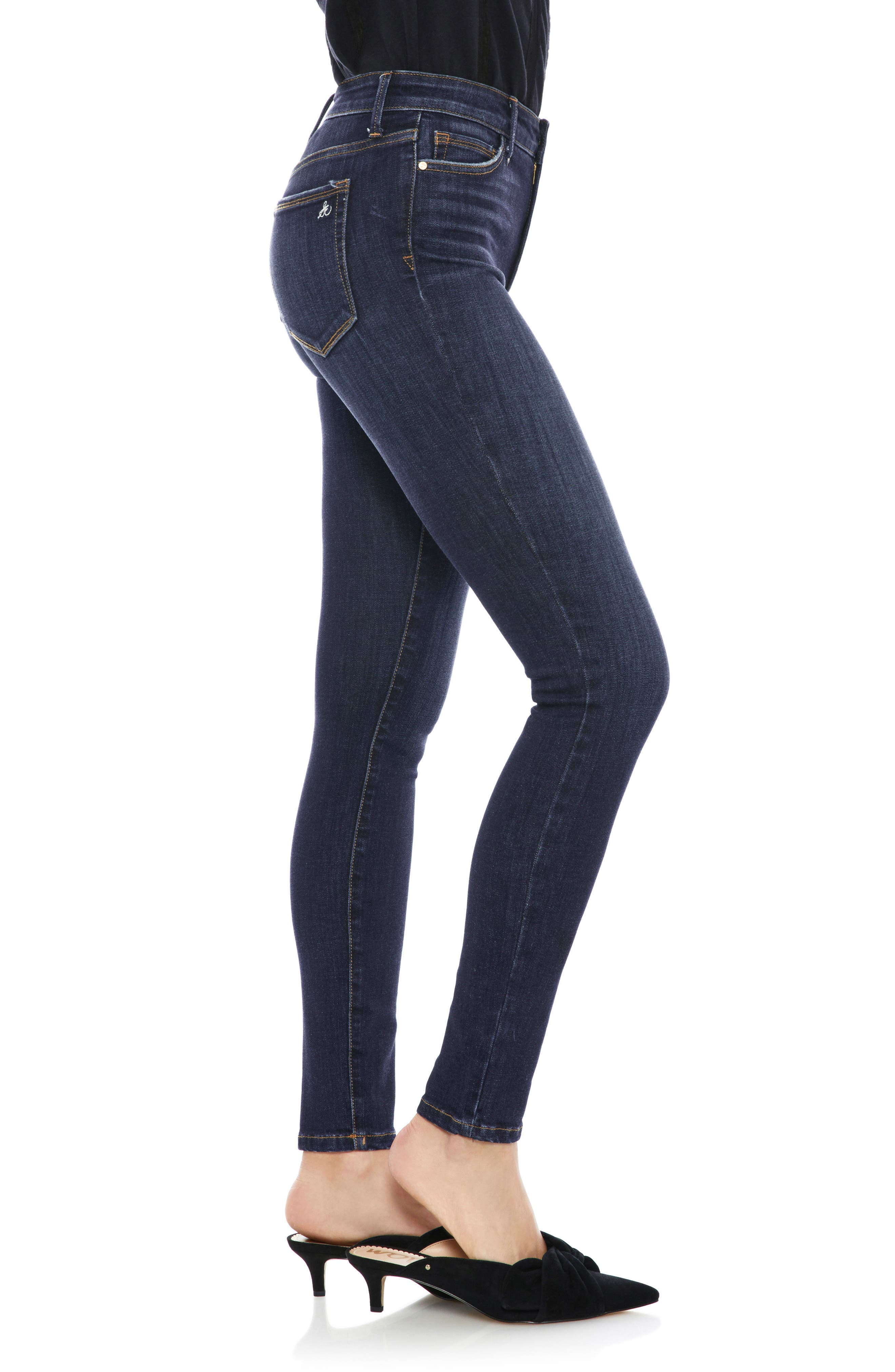 The Stiletto High Rise Skinny Jeans,                             Alternate thumbnail 3, color,                             EDDIE