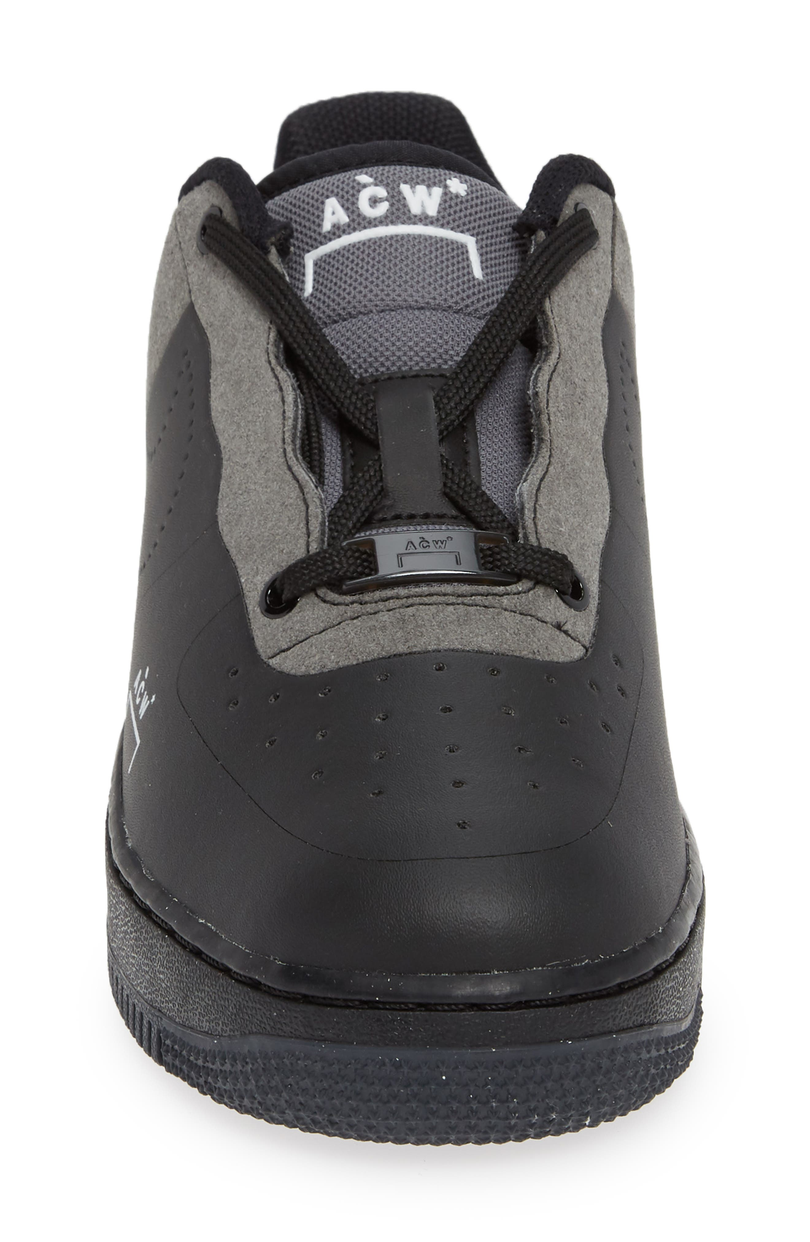 x A-COLD-WALL Air Force 1 '07 Sneaker,                             Alternate thumbnail 4, color,                             BLACK/ WHITE/ DARK GREY