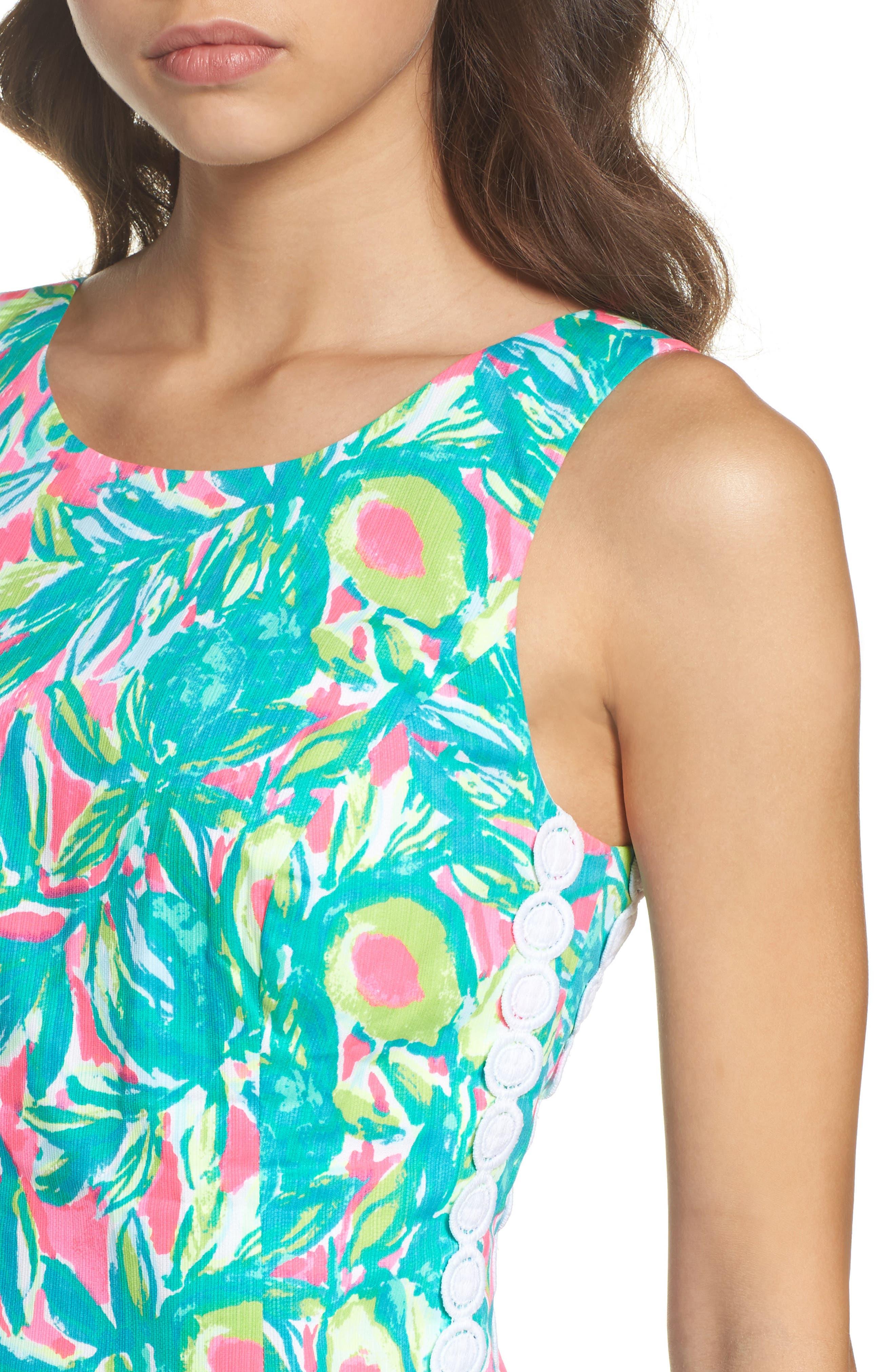 Mila Sheath Dress,                             Alternate thumbnail 4, color,                             697