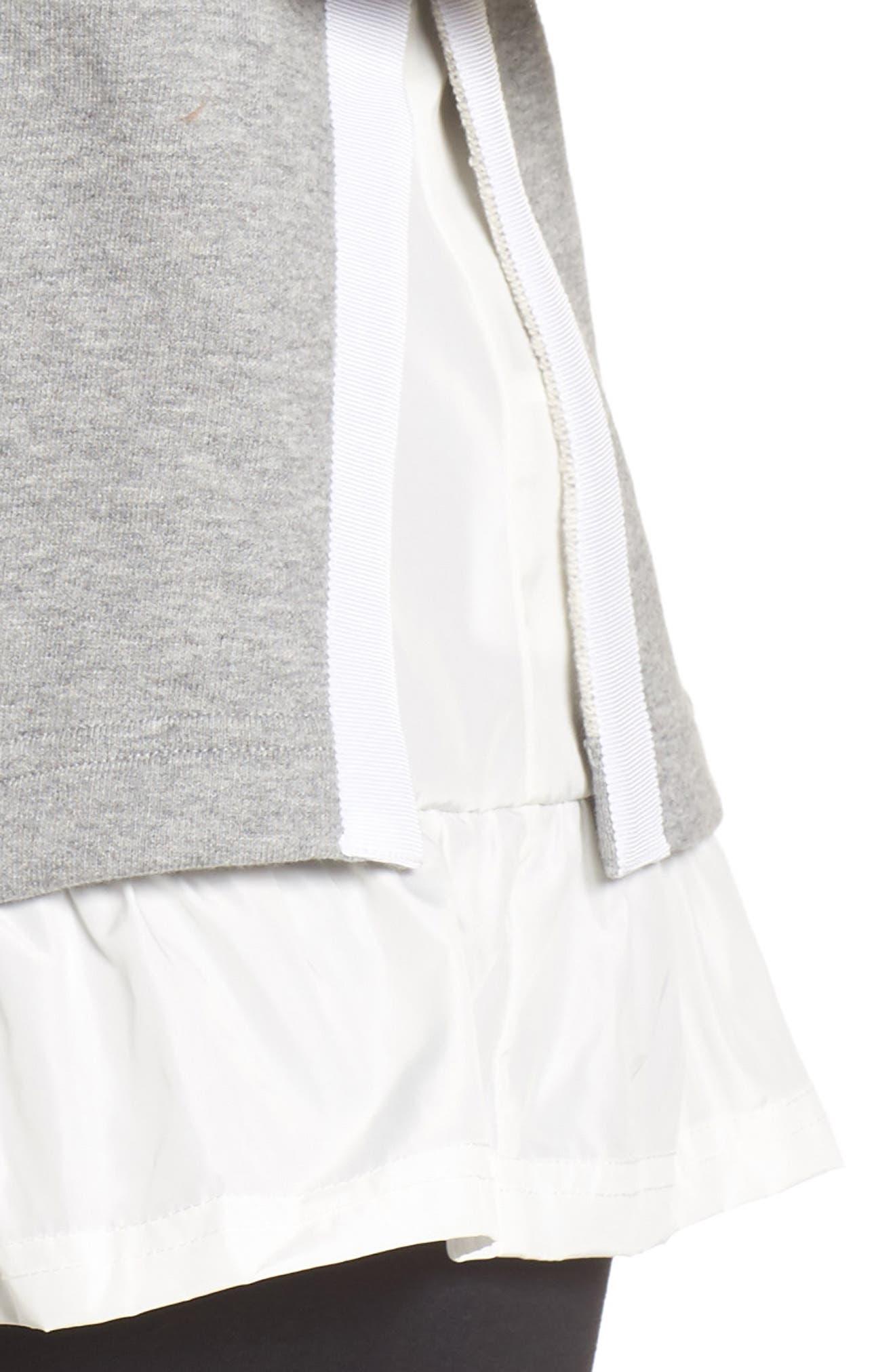 ruffle hoodie sweatshirt,                             Alternate thumbnail 4, color,                             088