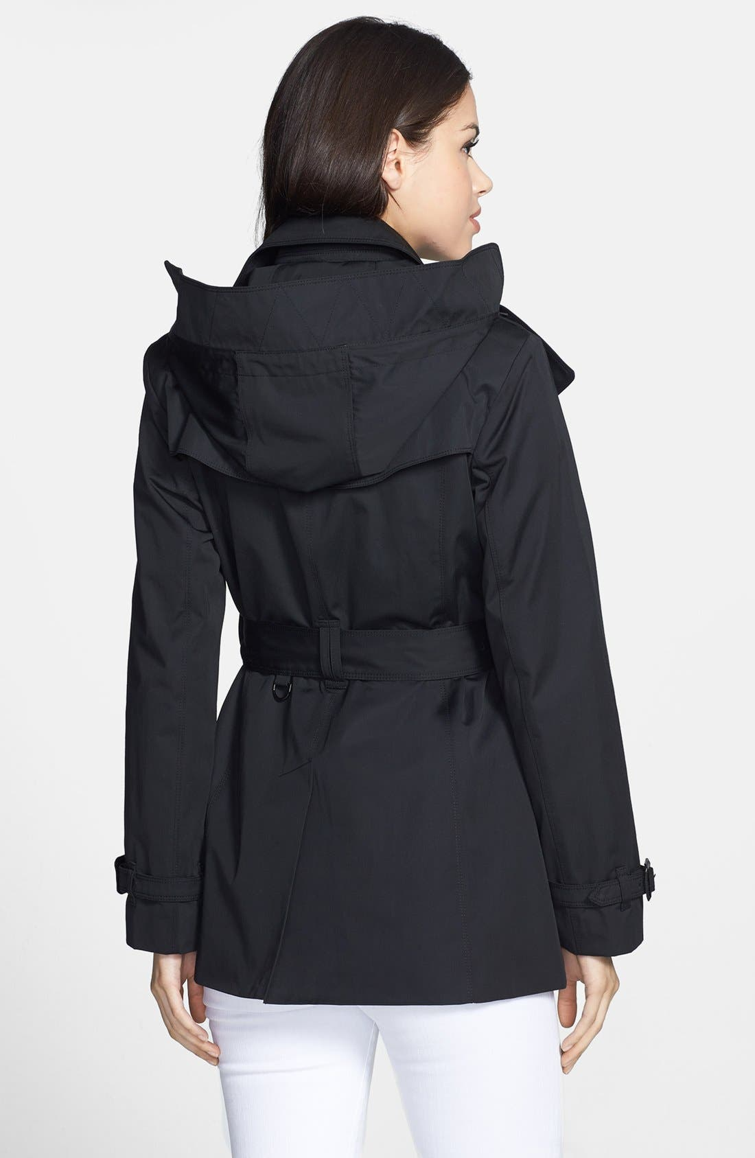 Heritage Trench Coat with Detachable Hood,                             Alternate thumbnail 3, color,                             001