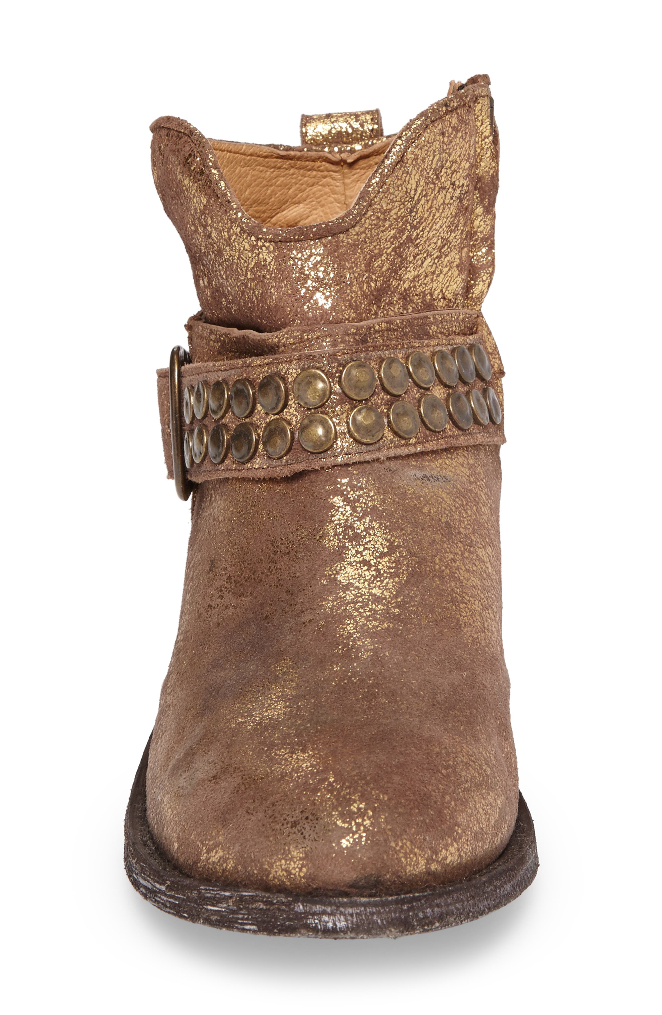 Serene Western Boot,                             Alternate thumbnail 4, color,                             COPPER LEATHER