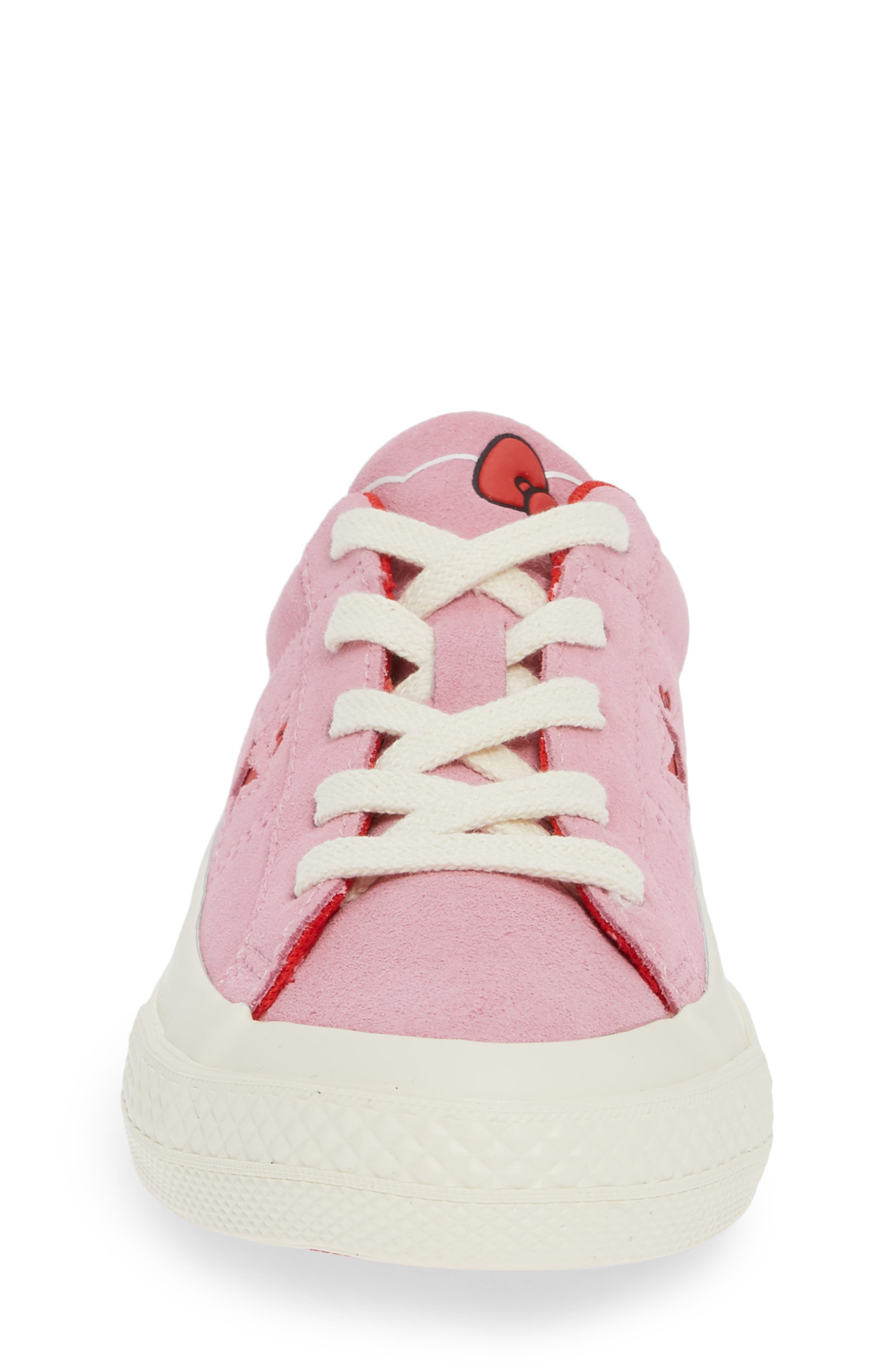 One Star Hello Kitty<sup>®</sup> Sneaker,                             Alternate thumbnail 4, color,                             PINK PRISM