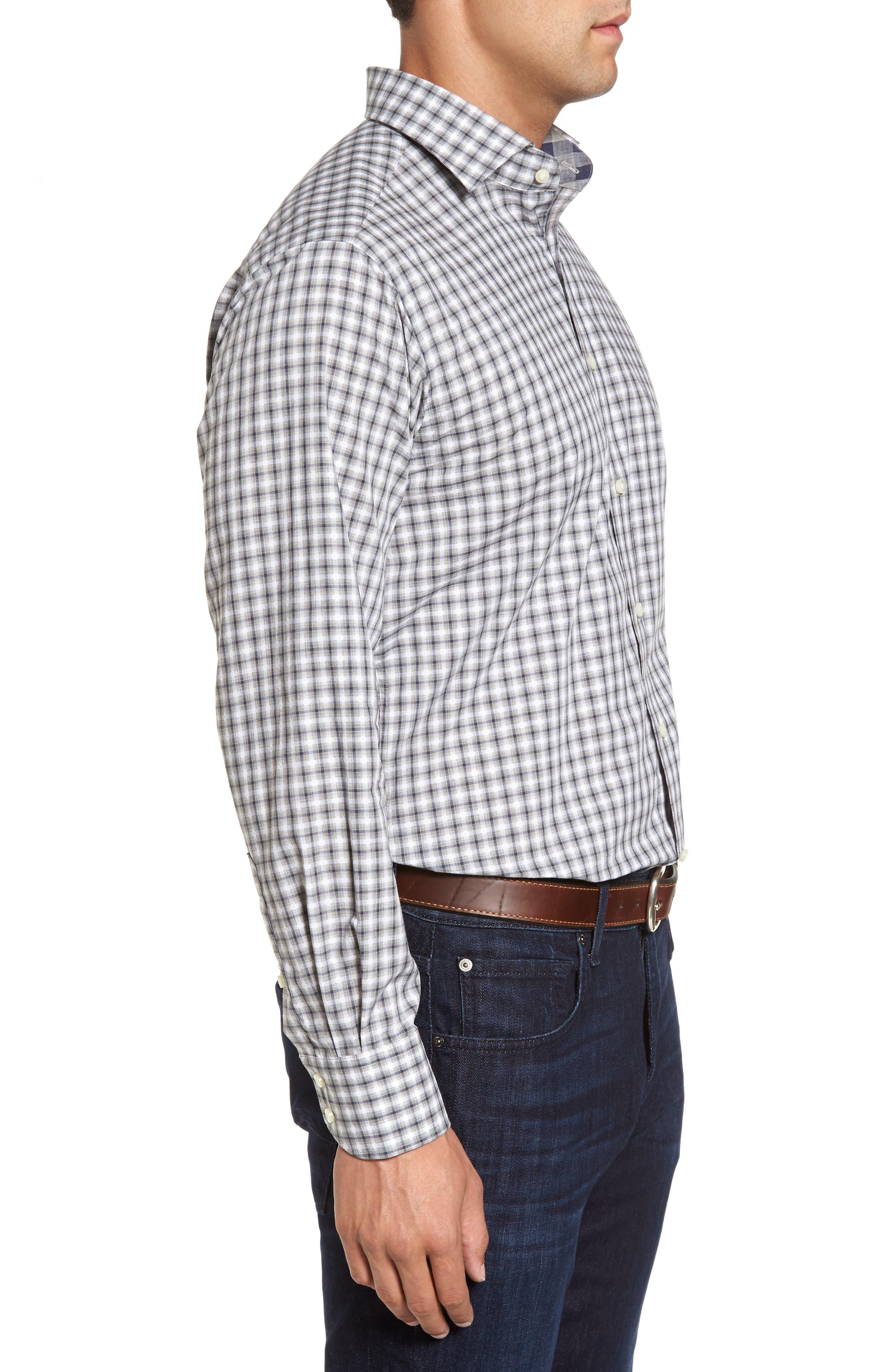 Regular Fit Gradient Check Sport Shirt,                             Alternate thumbnail 3, color,                             020