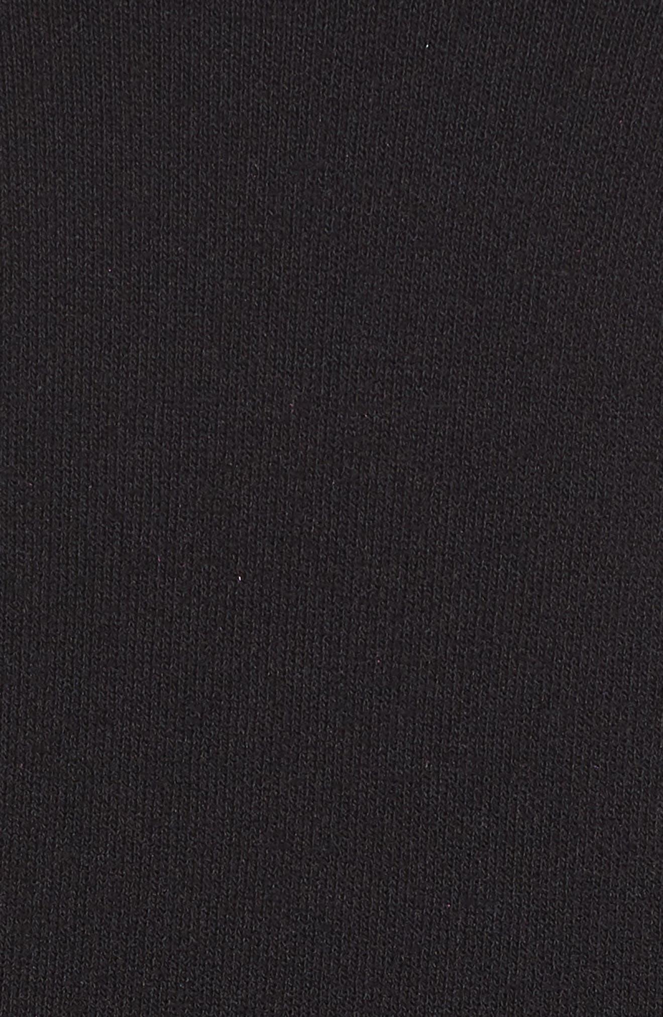 Off the Shoulder Flounce Hem Sweater Dress,                             Alternate thumbnail 6, color,                             001