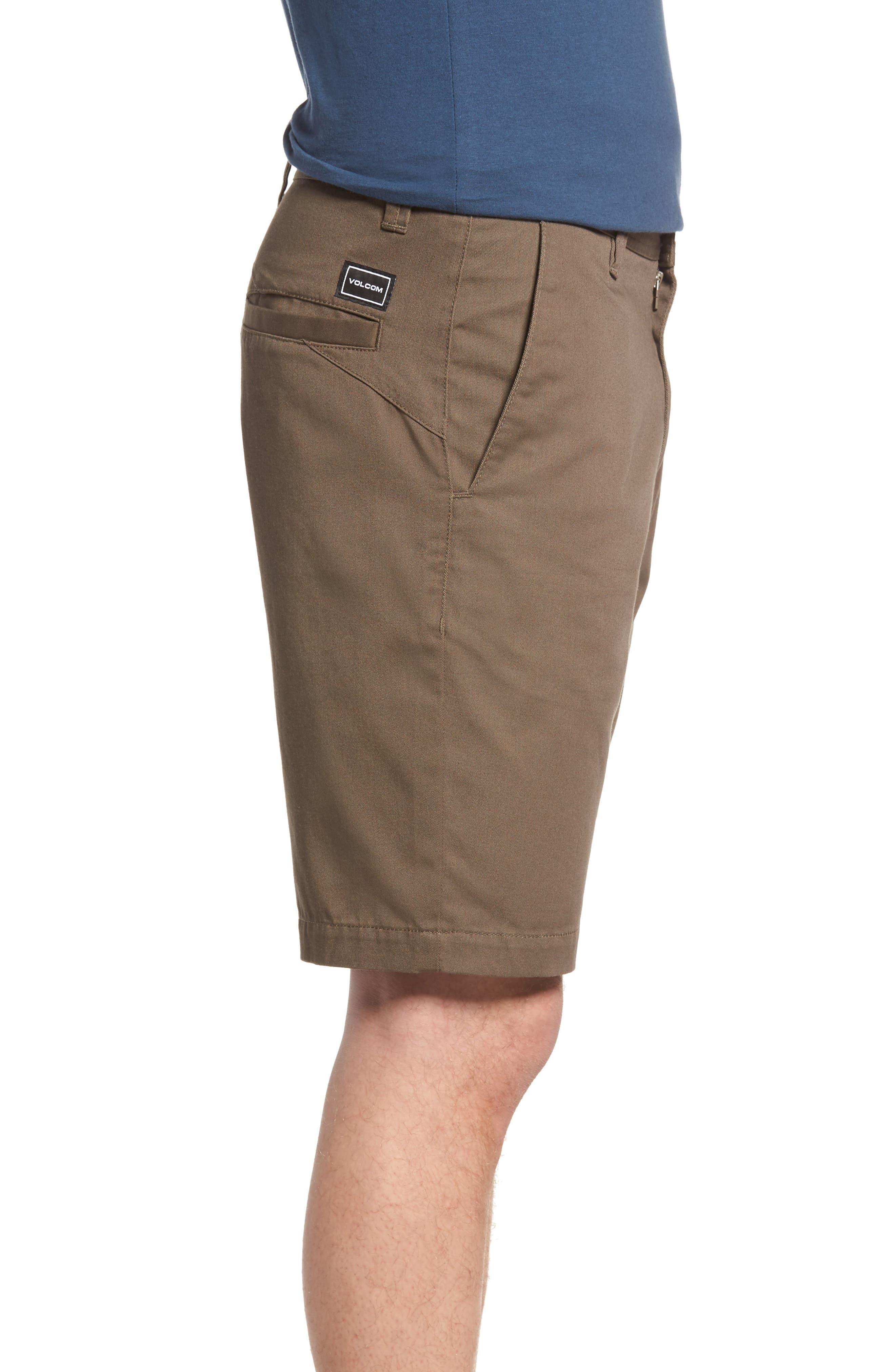 Modern Chino Shorts,                             Alternate thumbnail 3, color,                             MUSHROOM