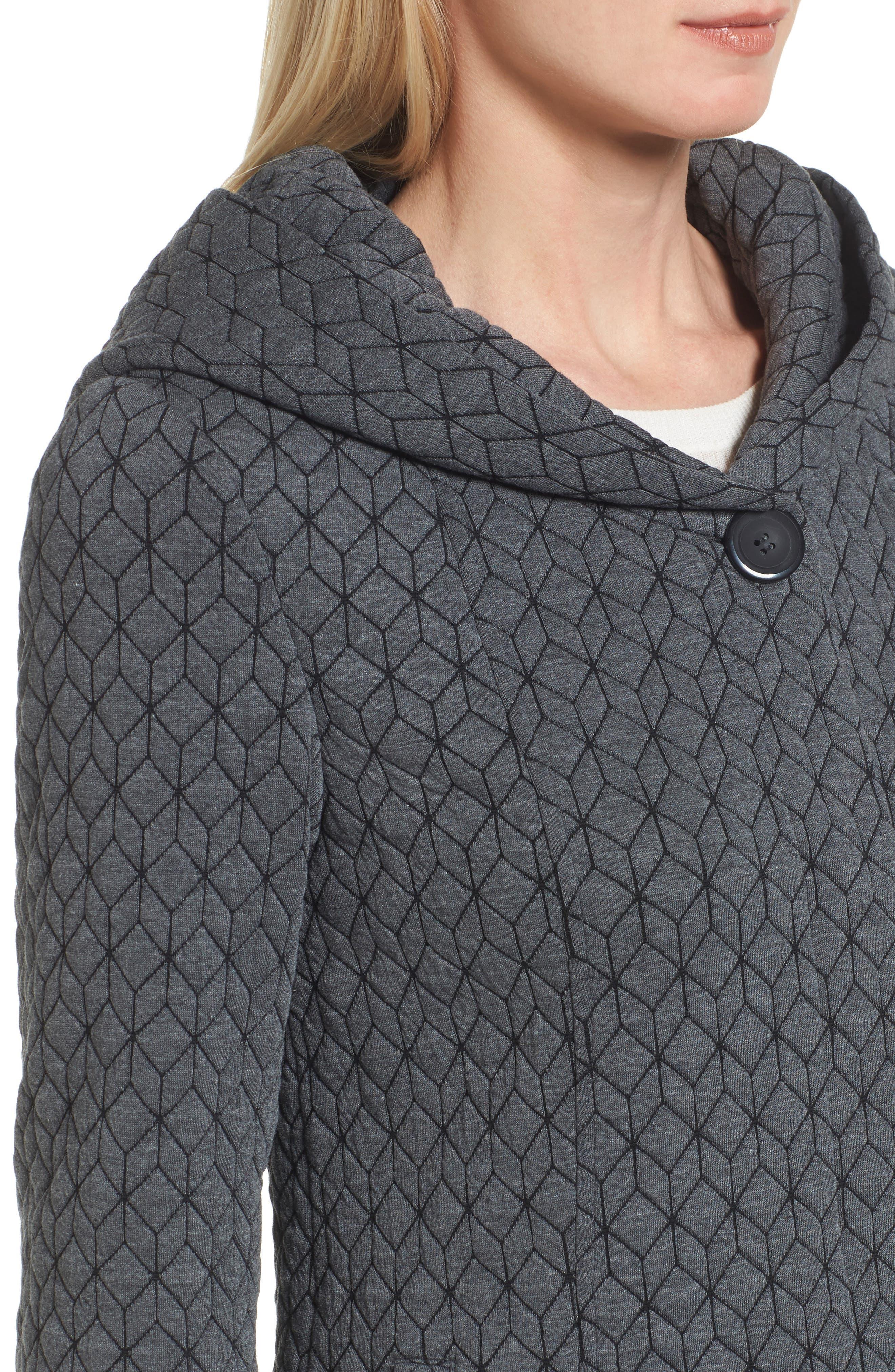 Cozy Knit Coat,                             Alternate thumbnail 4, color,                             020