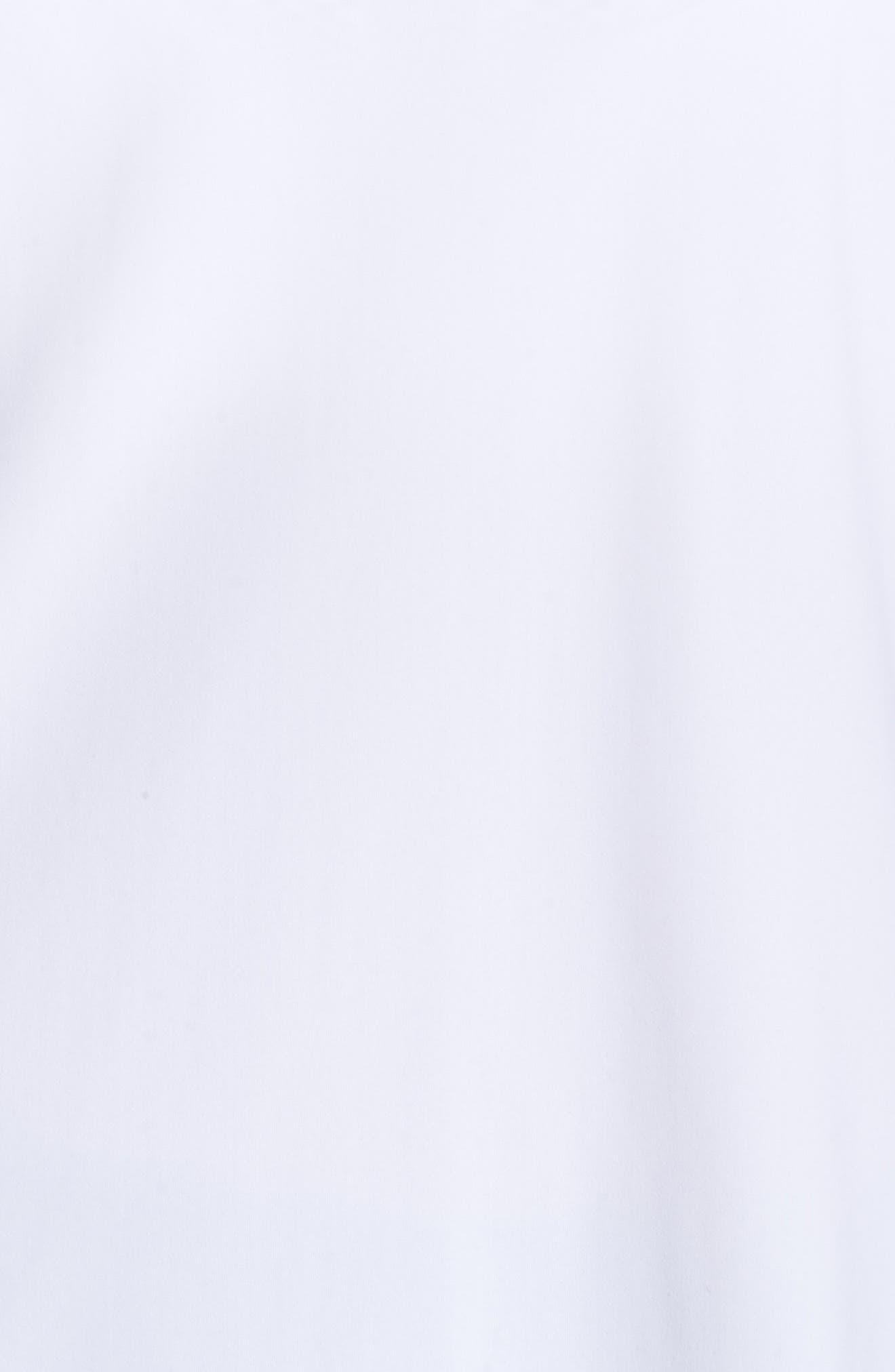 Breeze Short Sleeve Run Tee,                             Alternate thumbnail 5, color,                             WHITE