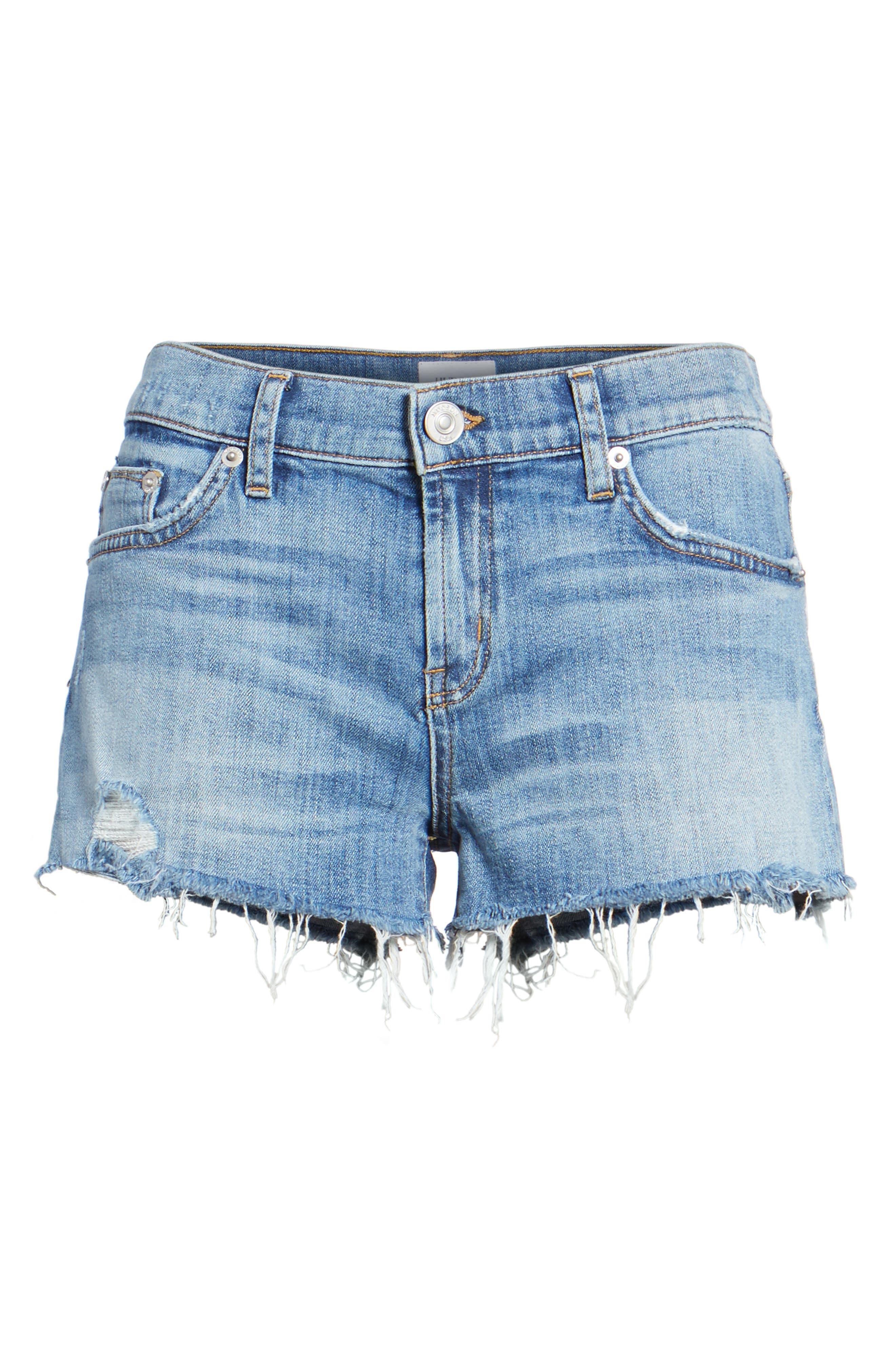 Kenzie Cutoff Denim Shorts,                             Alternate thumbnail 7, color,                             420