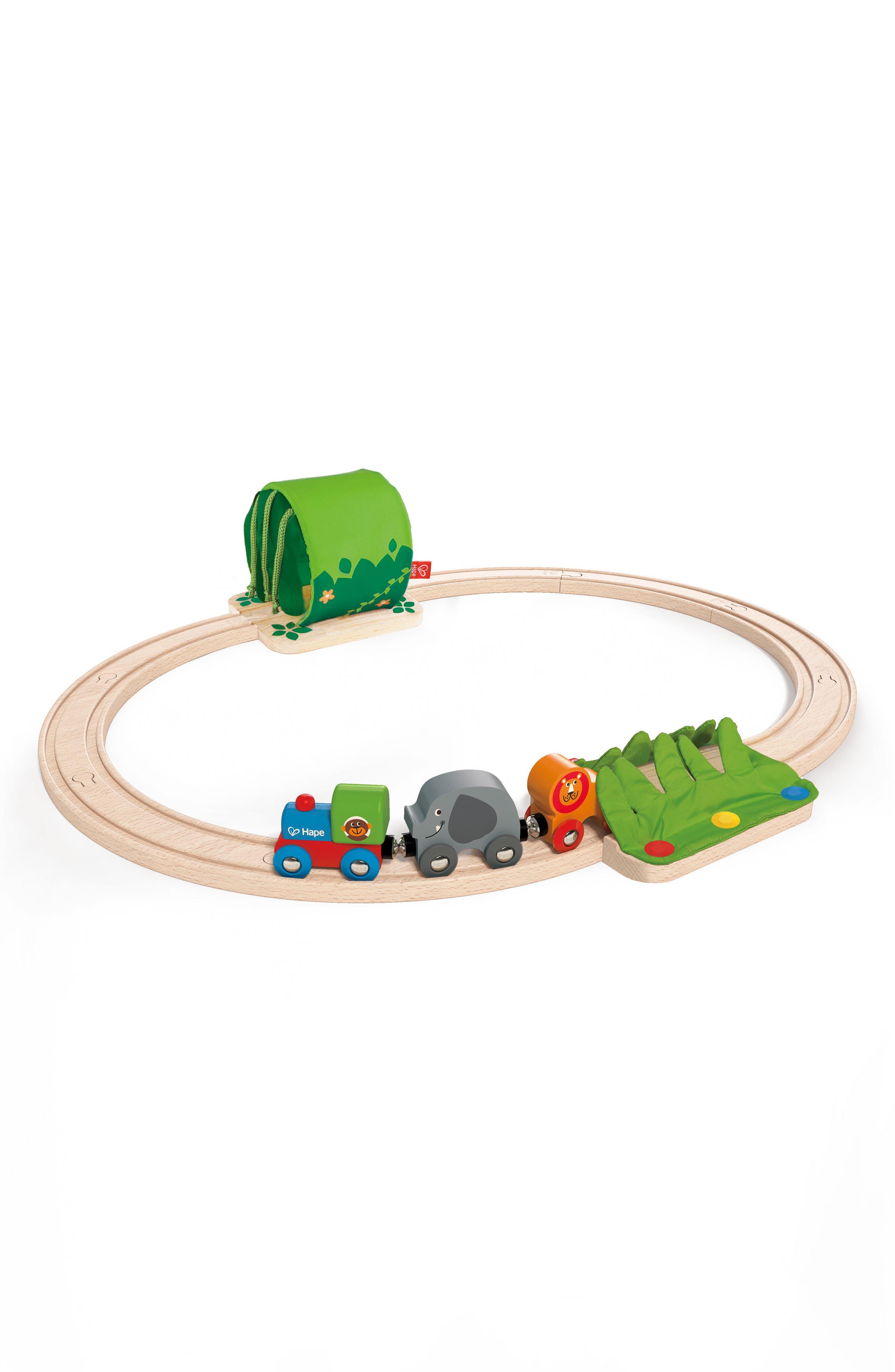Jungle Train Journey Wooden Train Set,                             Main thumbnail 1, color,