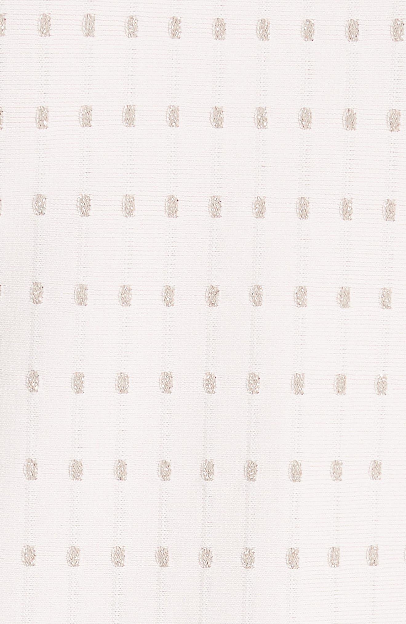 Flippy Metallic Jacquard Dress,                             Alternate thumbnail 5, color,                             BABY PINK