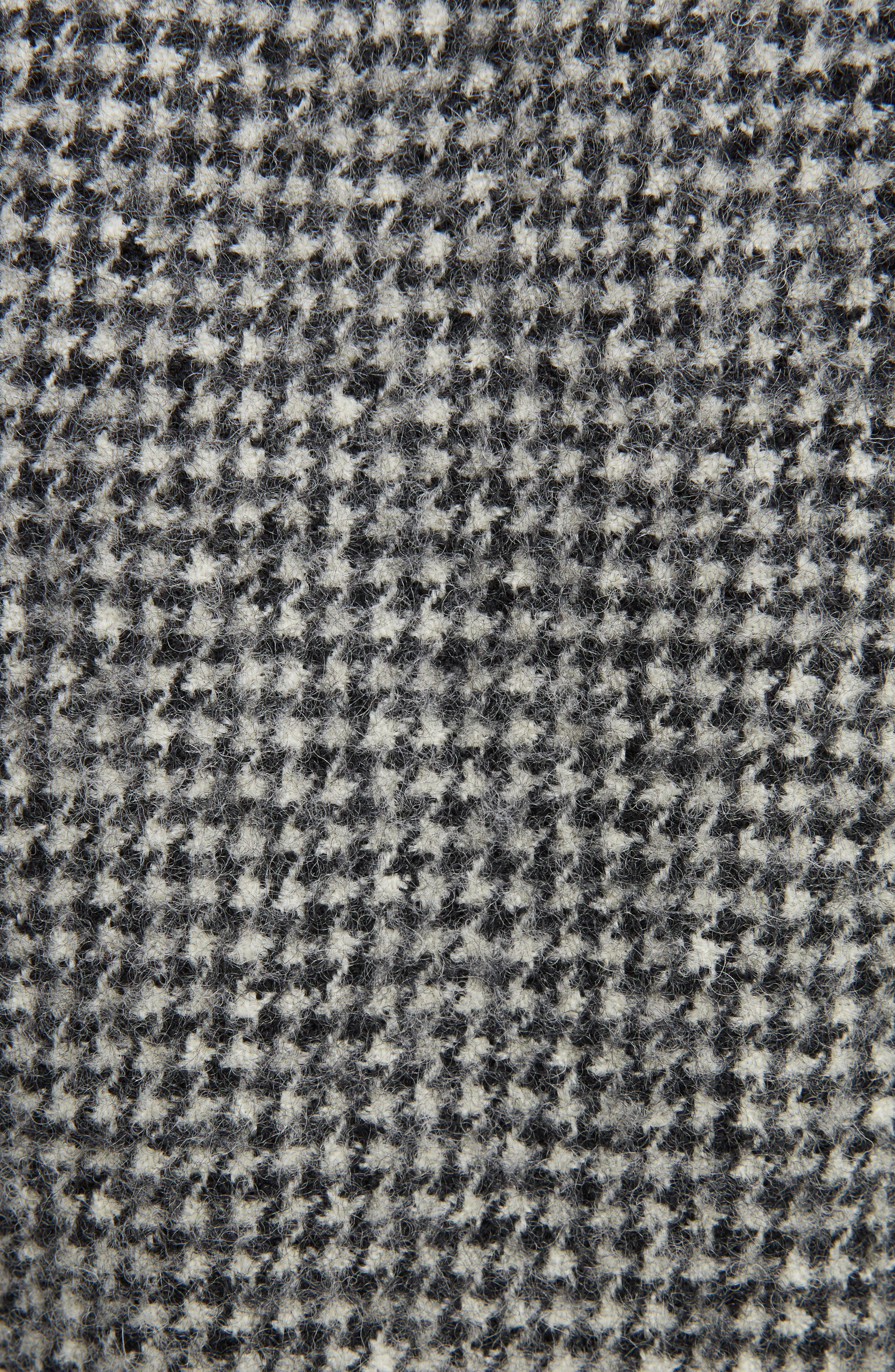 Houndstooth Wool Zip Front Jacket,                             Alternate thumbnail 5, color,                             021