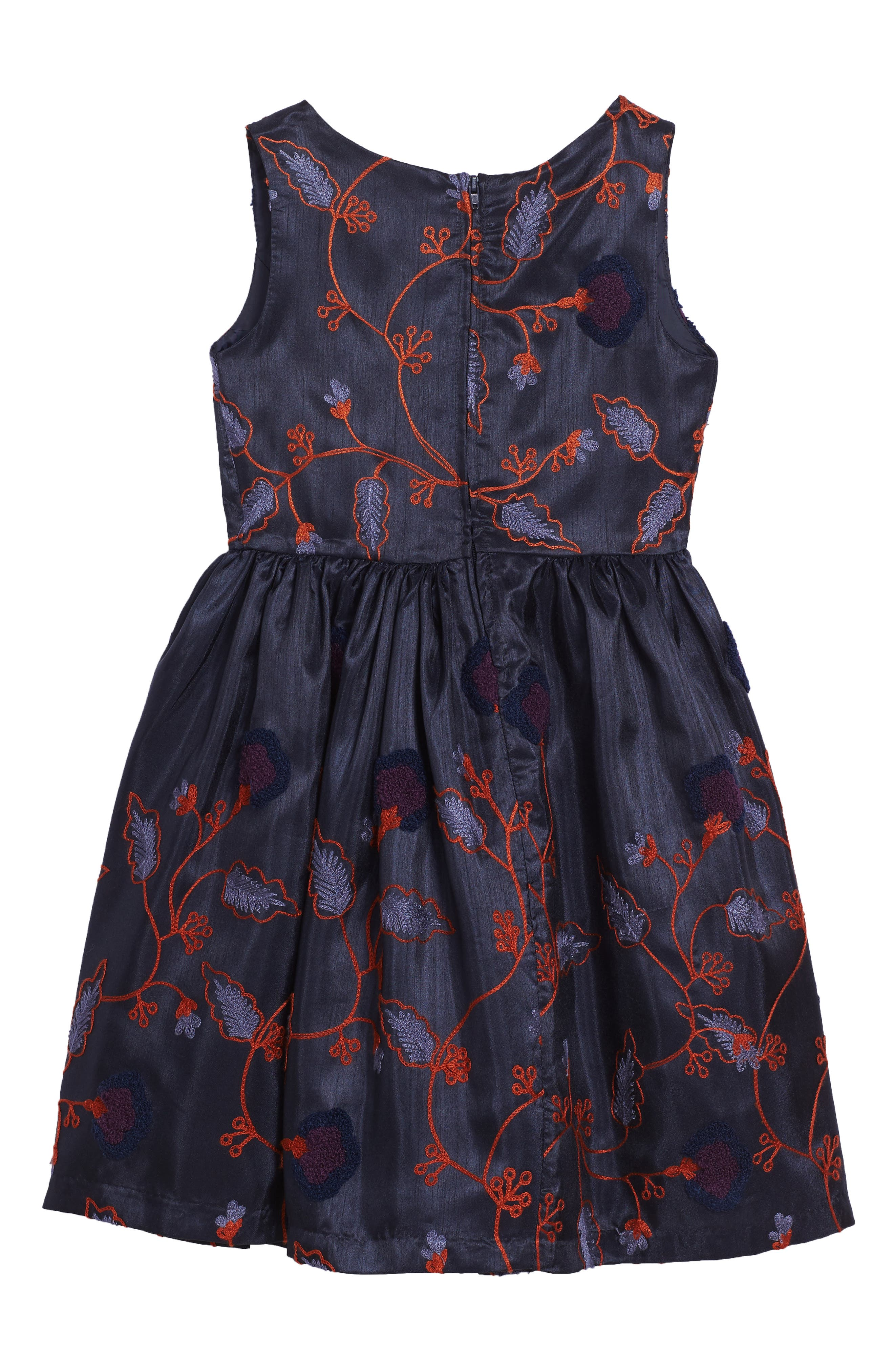 Embroidered Floral Dress,                             Alternate thumbnail 2, color,                             410
