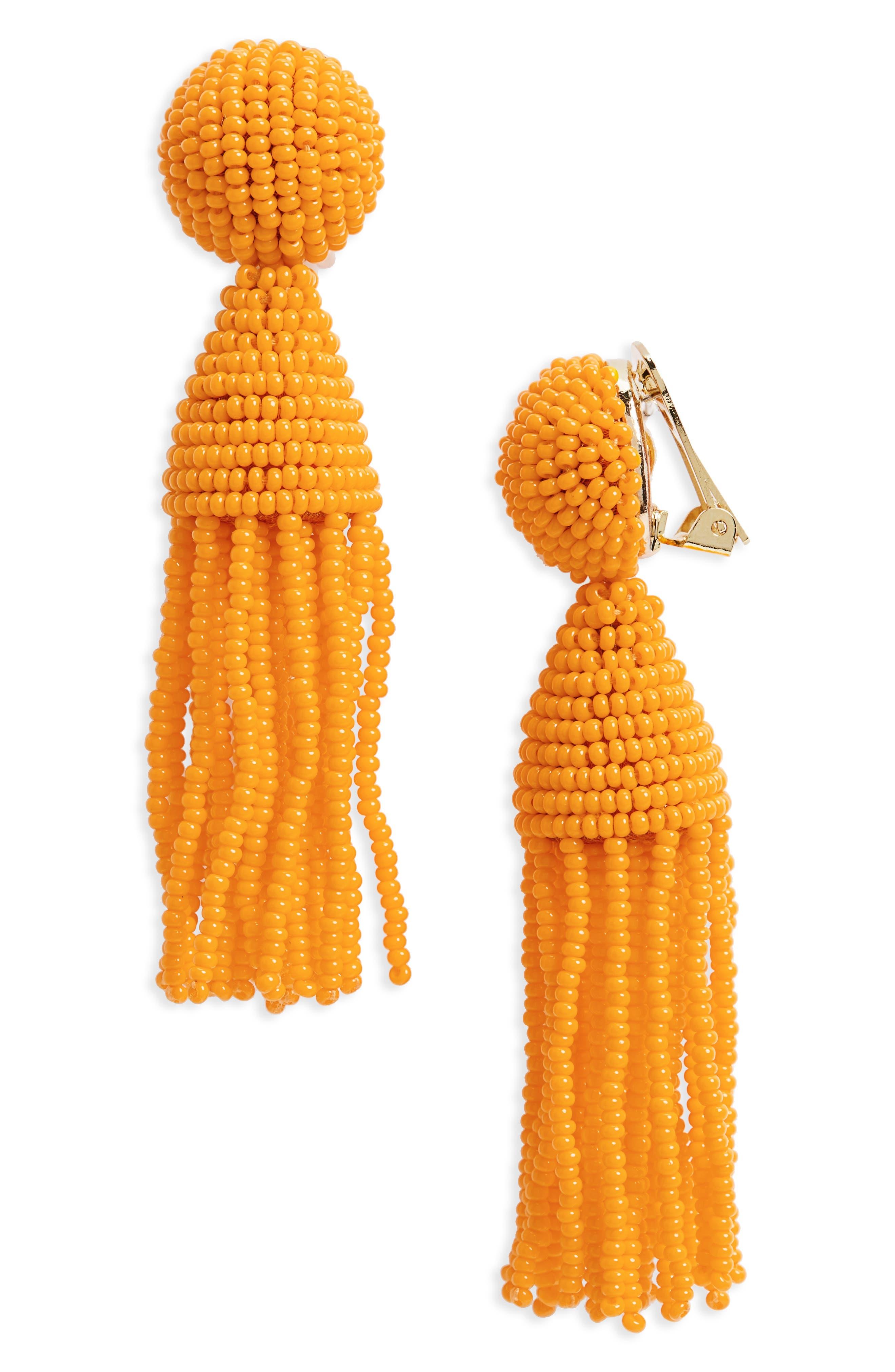 'Classic Short' Tassel Drop Clip Earrings,                             Main thumbnail 25, color,