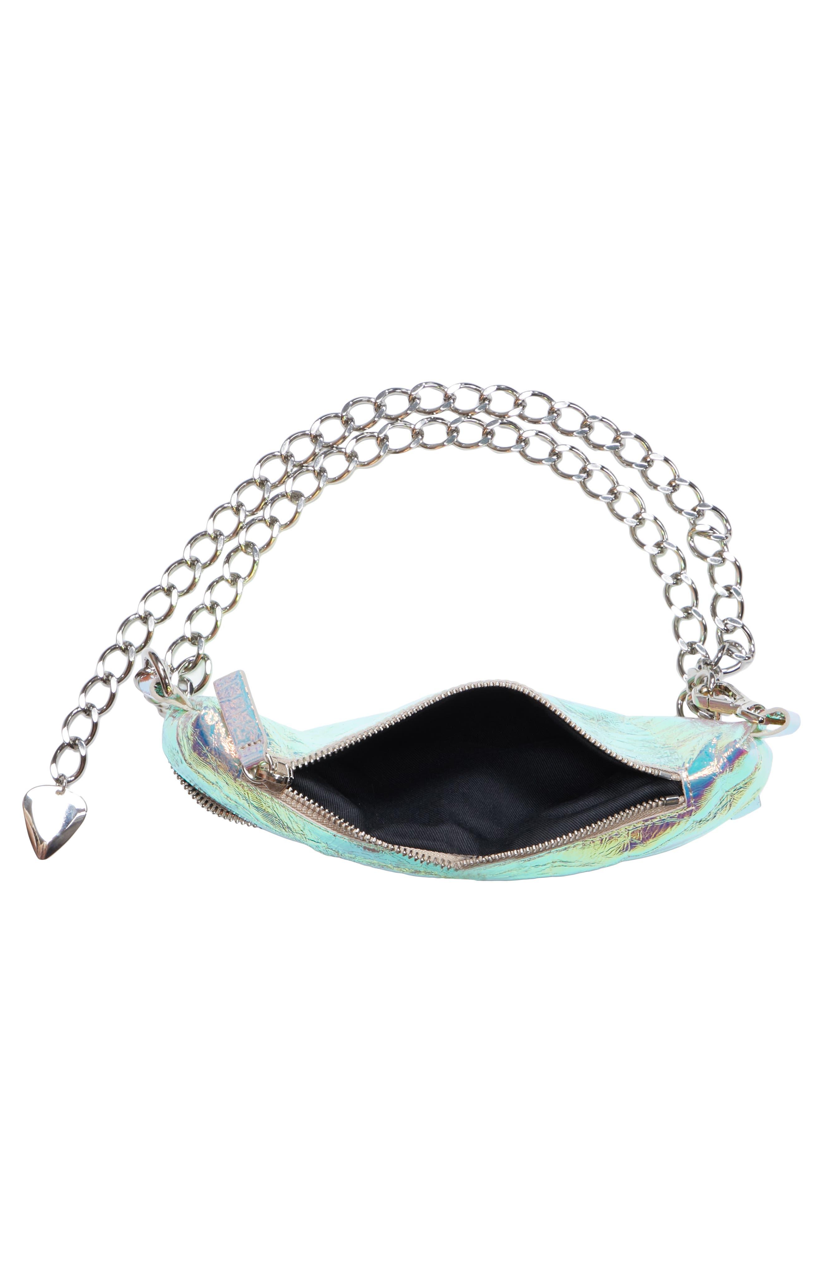 Mini Metallic Troupe Convertible Belt Bag,                             Alternate thumbnail 4, color,                             040