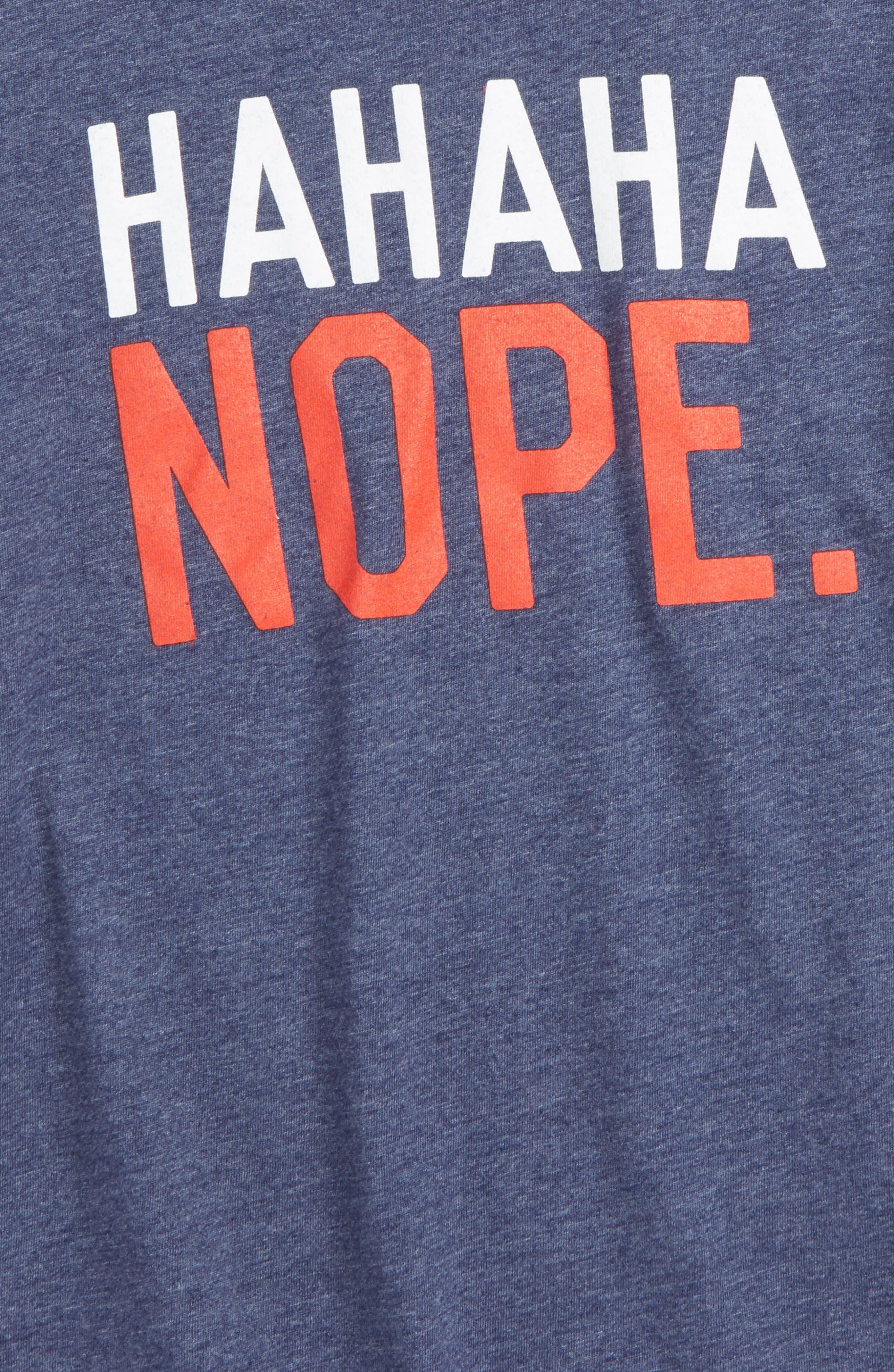 Hahaha Nope Graphic T-Shirt,                             Alternate thumbnail 2, color,                             401