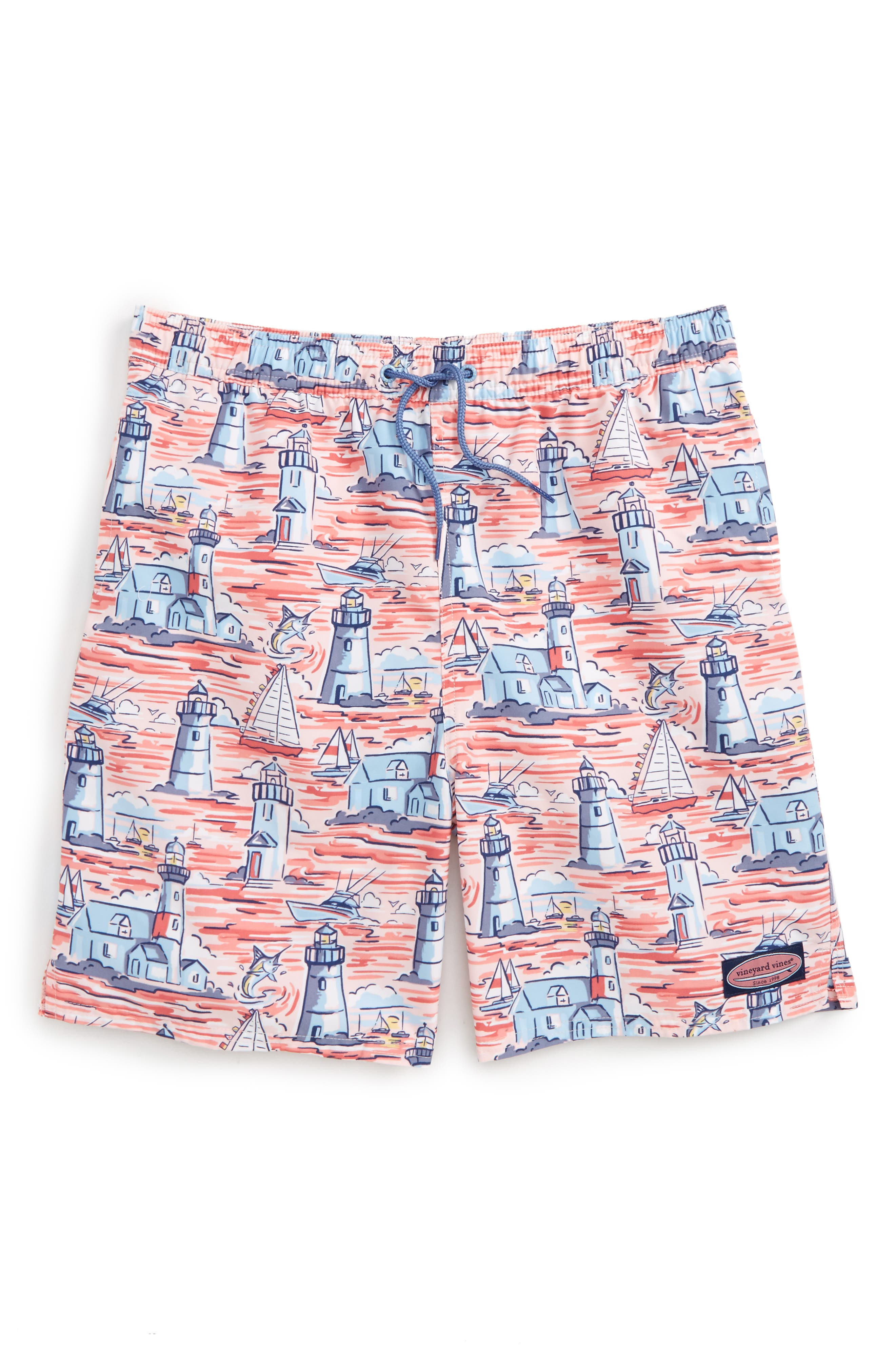 Lighthouse Scenic Chappy Swim Trunks,                         Main,                         color, 686