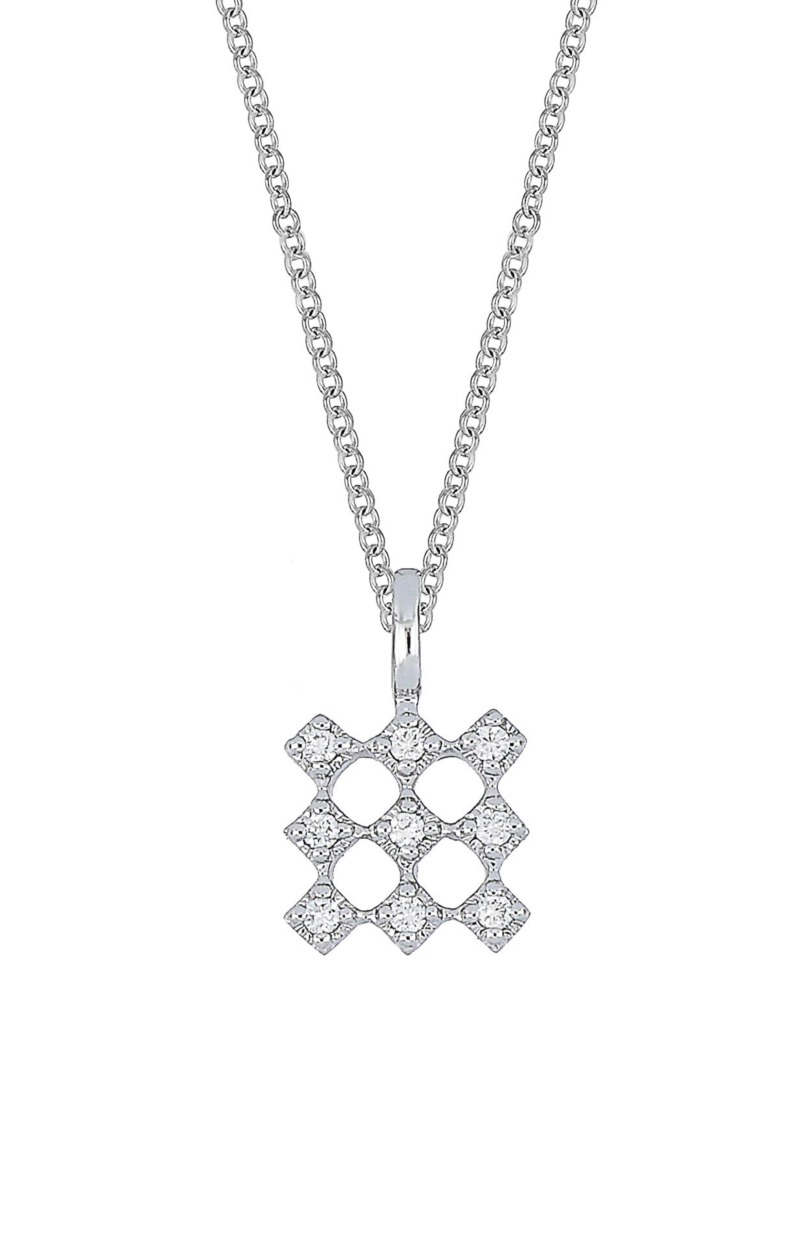 Mila Diamond Pendant Necklace,                         Main,                         color, 711