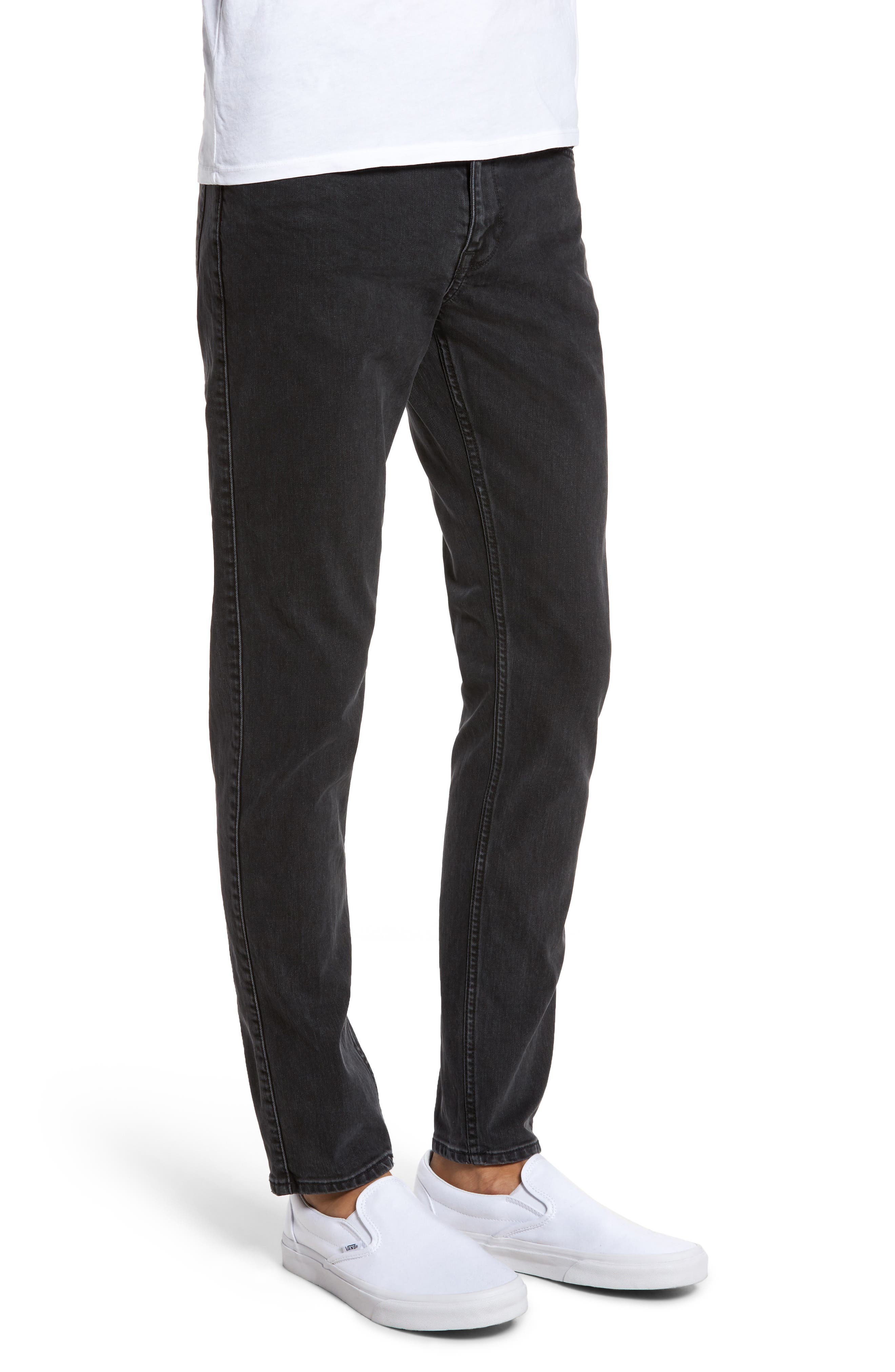 Clark Slim Straight Leg Jeans,                             Alternate thumbnail 3, color,                             001
