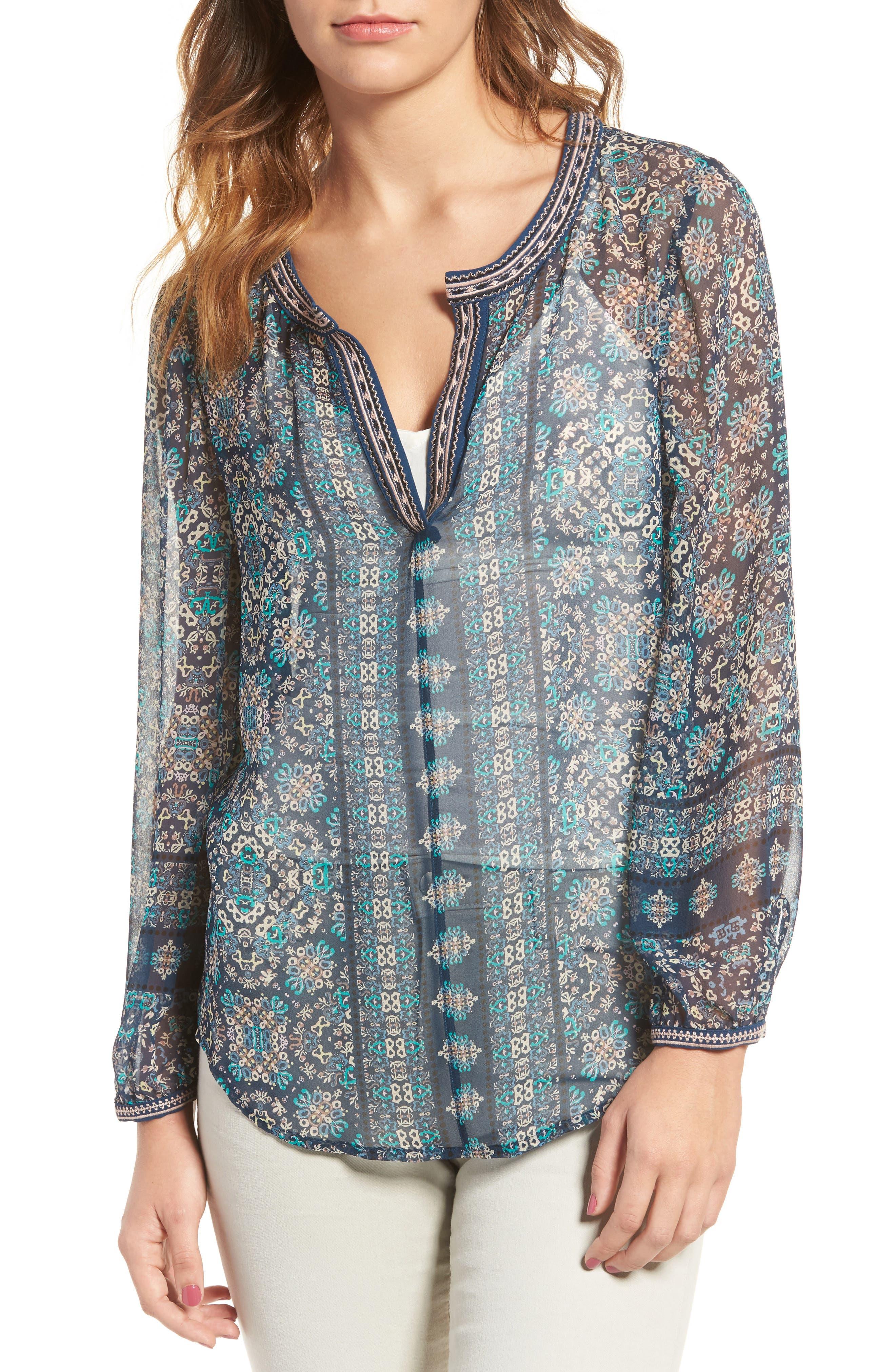 Wayfair Silk Blouse,                         Main,                         color, 400