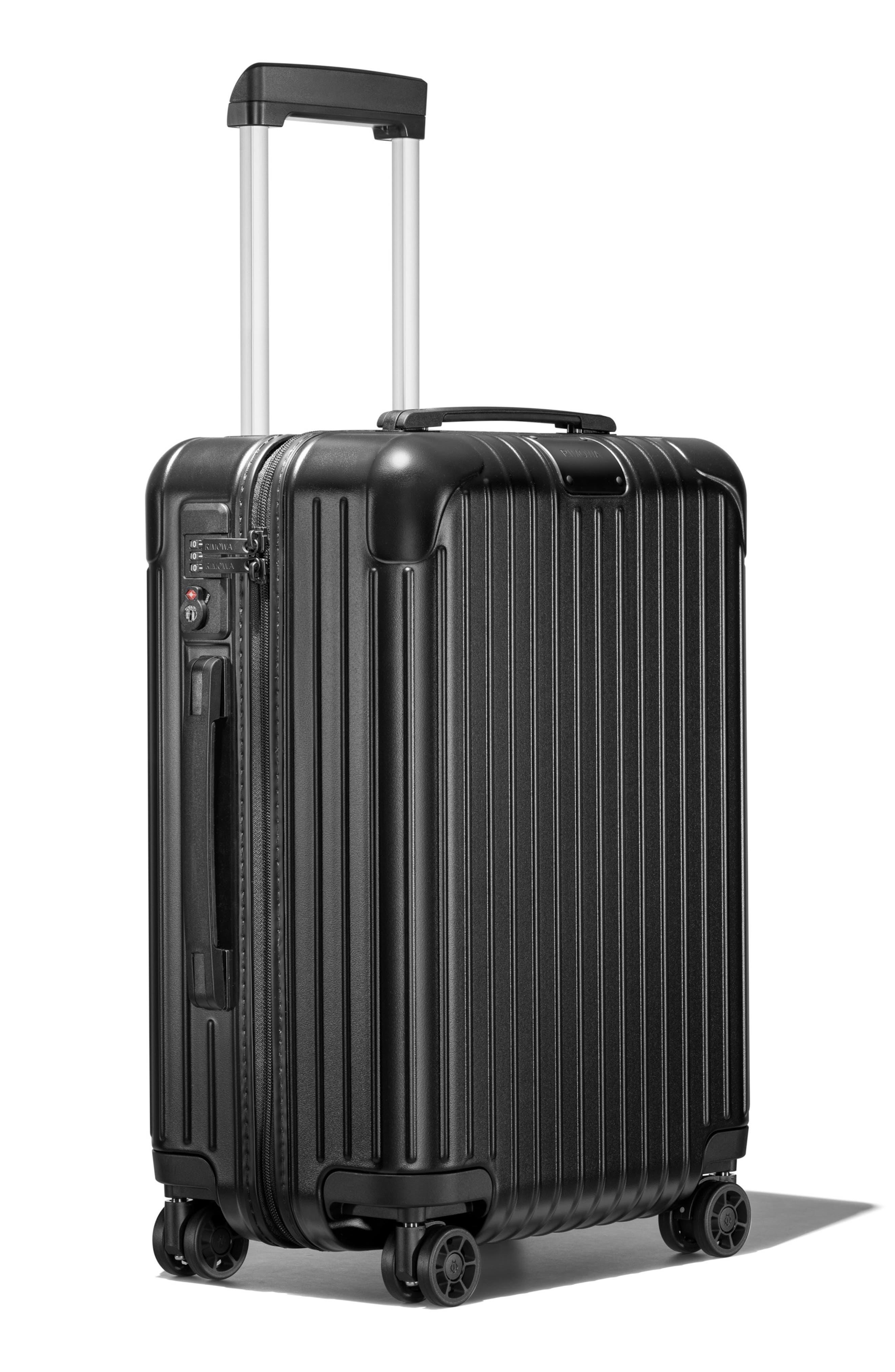 Essential Cabin 22-Inch Packing Case,                             Alternate thumbnail 4, color,                             MATTE BLACK