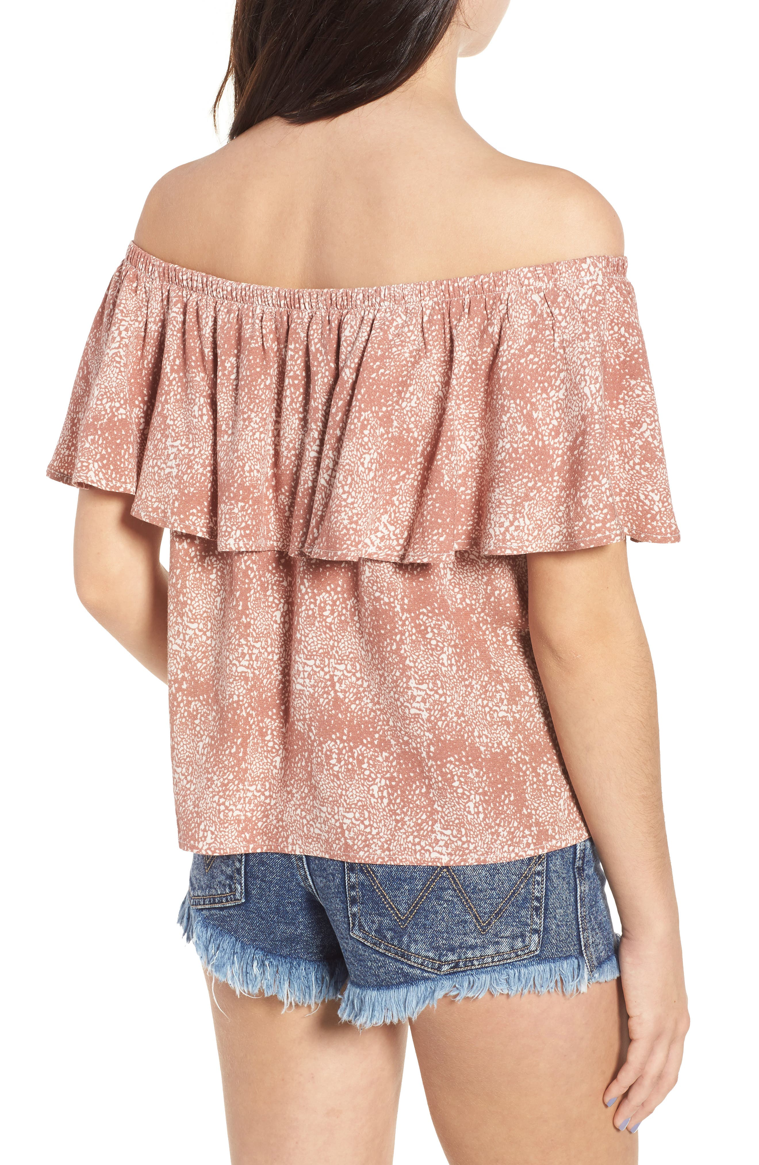 Mary Off the Shoulder Top,                             Alternate thumbnail 4, color,