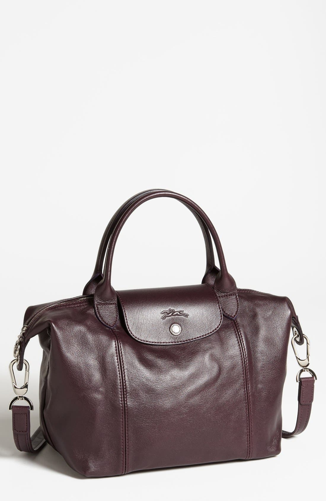 Small 'Le Pliage Cuir' Leather Top Handle Tote,                             Main thumbnail 17, color,