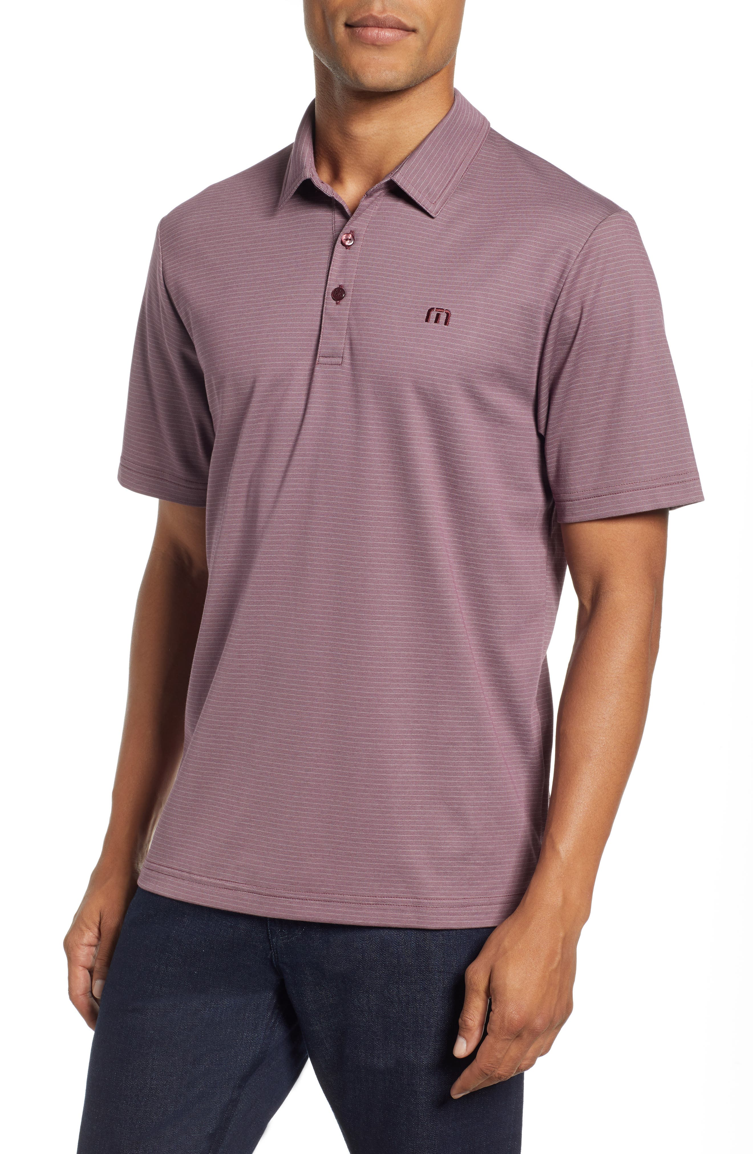 The VIP Regular Fit Polo,                             Main thumbnail 1, color,                             EGGPLANT/ MICRO CHIP